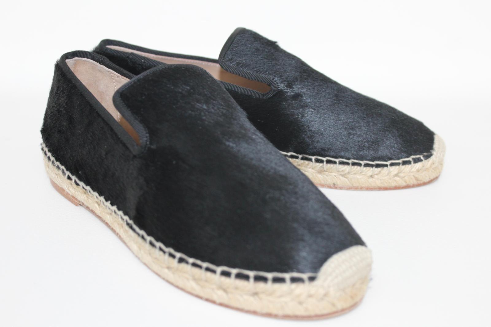 CELINE-Stacy-Black-Pony-Hair-Ladies-Flat-Espadrilles-Shoes-UK3-EU36-5-BNIB