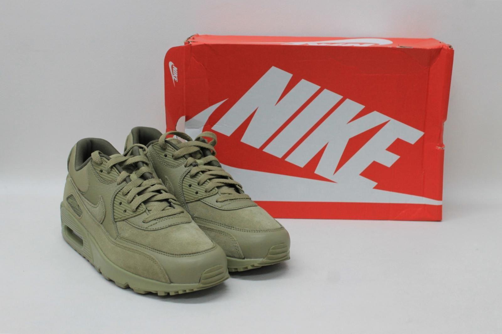 kaki Scarpe Nike Air da verdi Max Premium stringate Eu42 Uk8 taglia Uomo Bnib ginnastica 90 BqaWYYxv