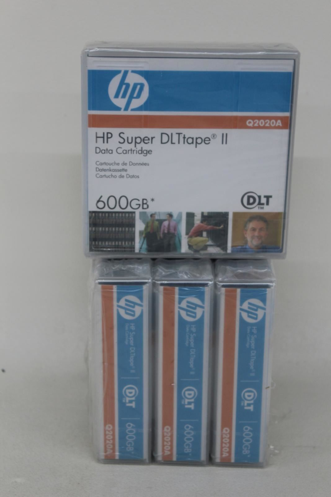 HP-Q2020A-Super-DLtape-II-Data-Tape-Square-cartouche-600-Go-job-lot-4x-NEUF