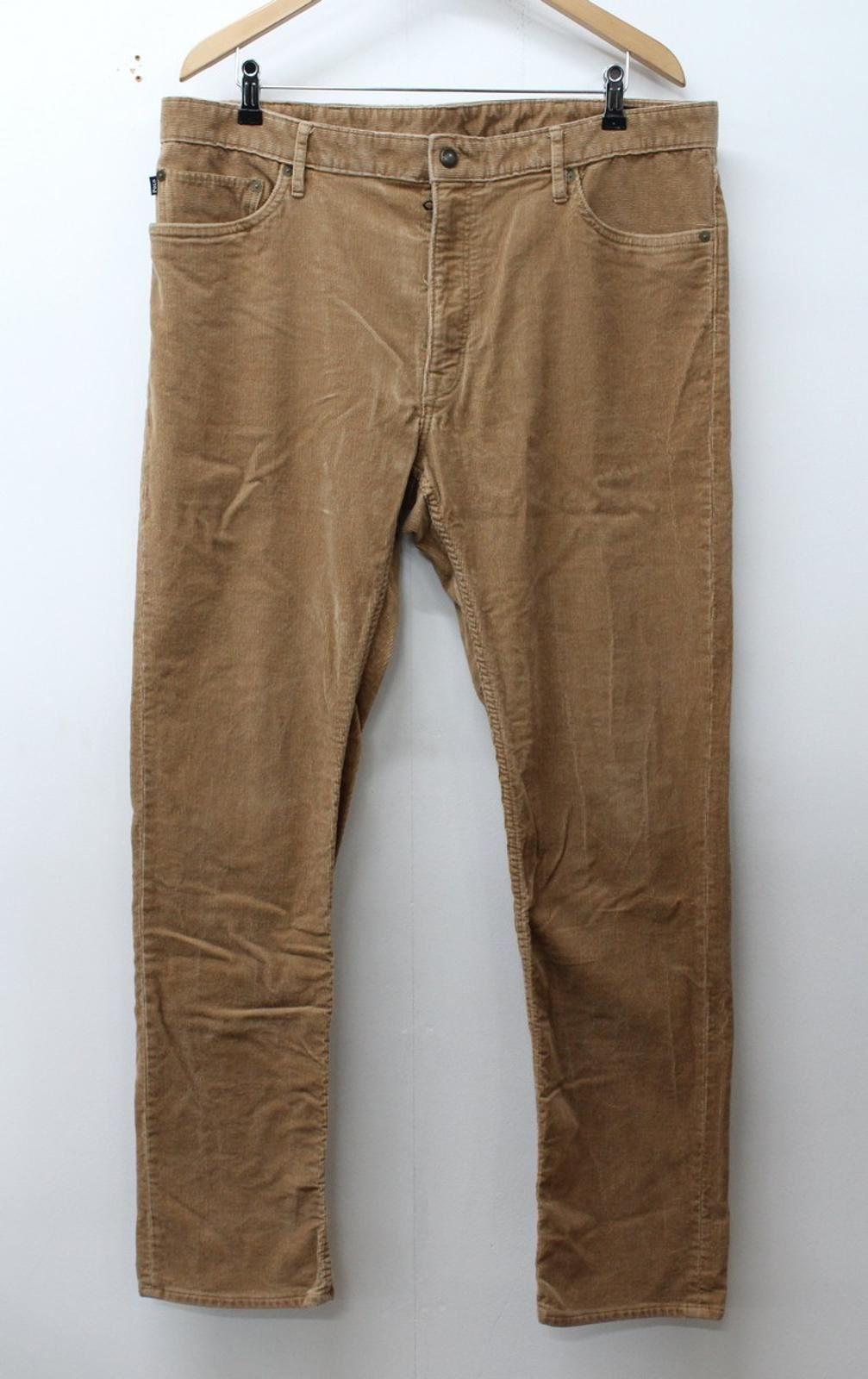Polo-by-Ralph-Lauren-Herren-Braun-Baumwollmischung-Slim-Fit-Cord-Hose-w38-l32