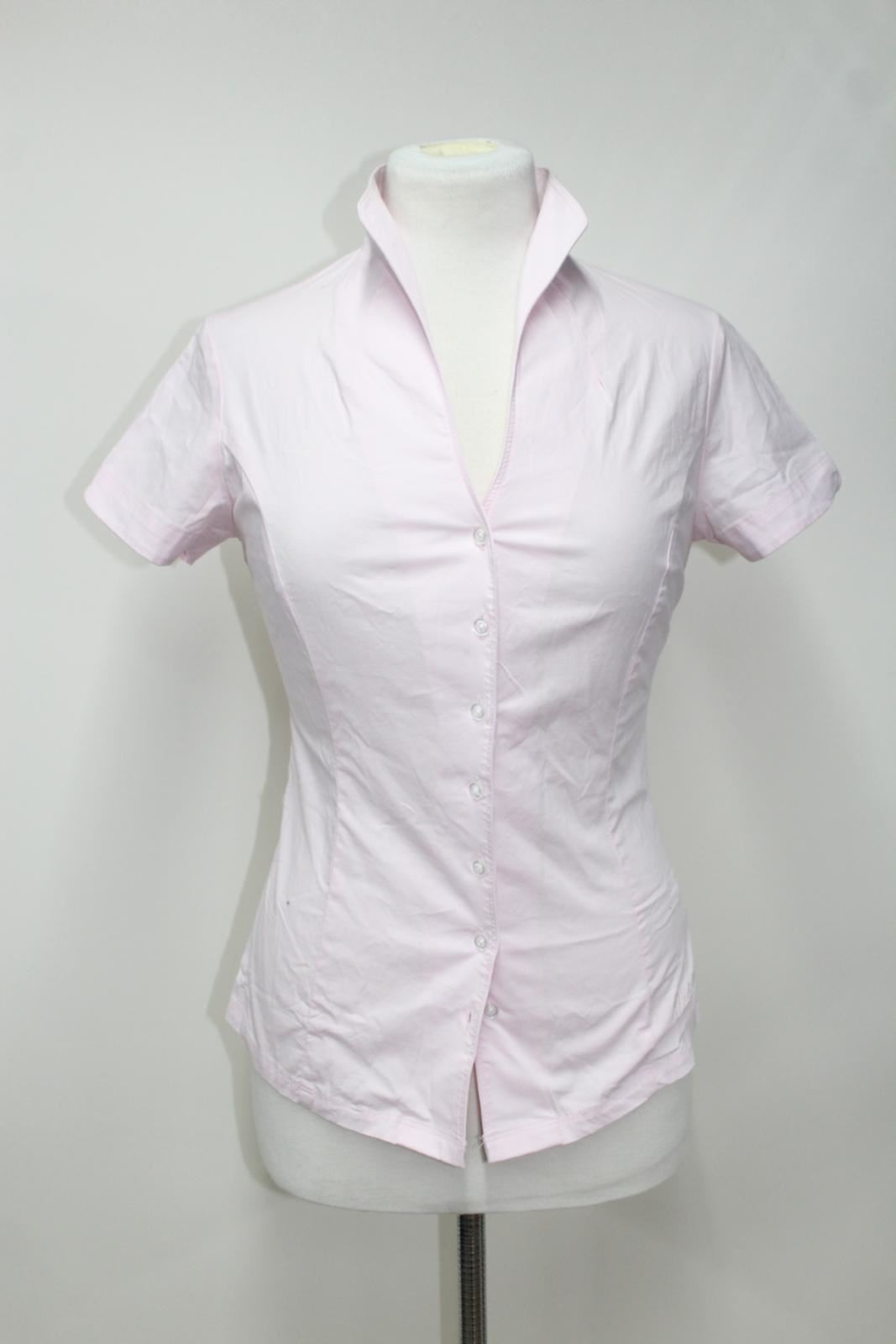 BNWT Dubarry Dubarry Dubarry Borragine donna rosa cotone stretch colletto della camicia Ritratto UK18 a011a3