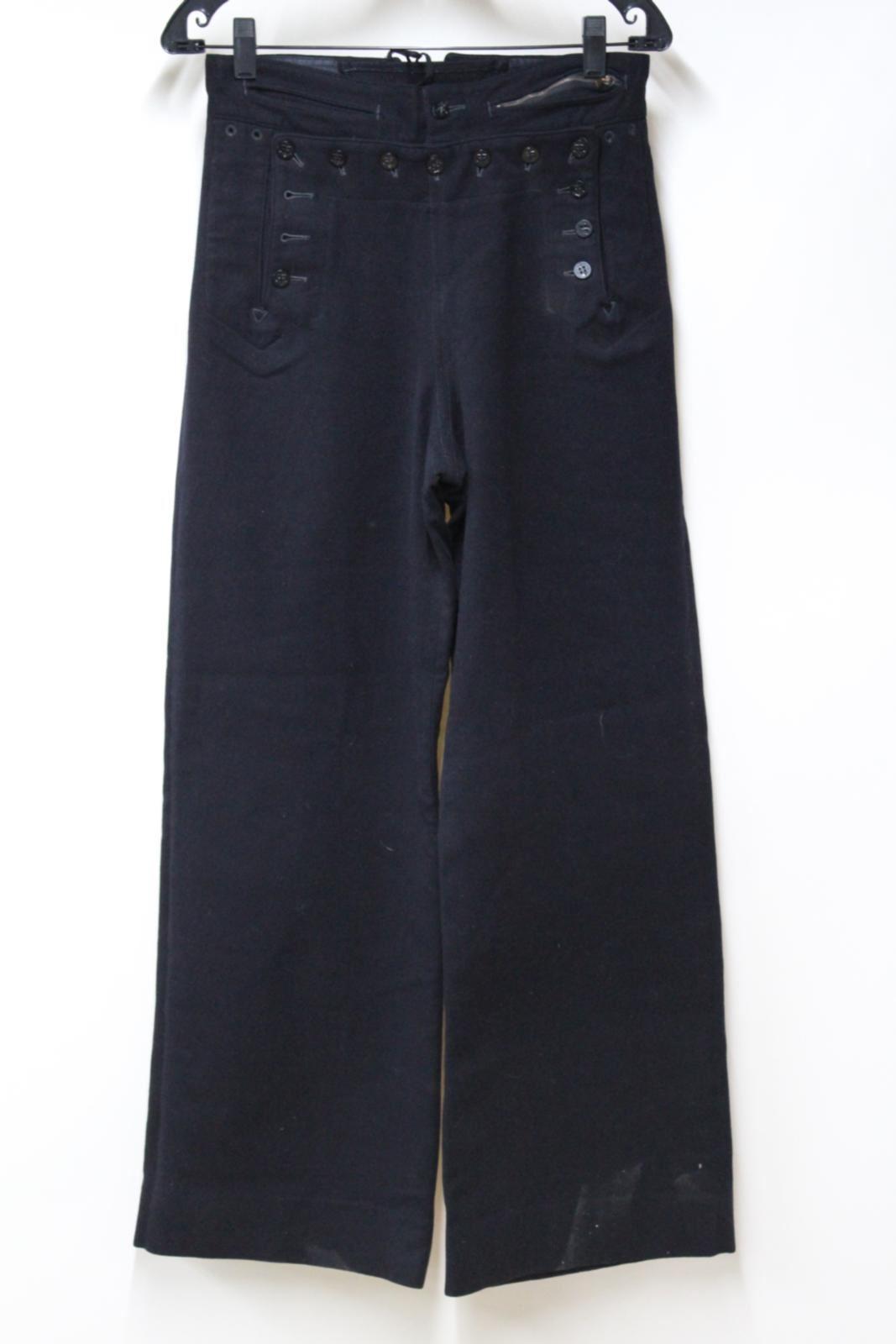NAVAL CLOTHING FACTORY US Navy Sailor Uniform 13 Button High Waist Trousers W28