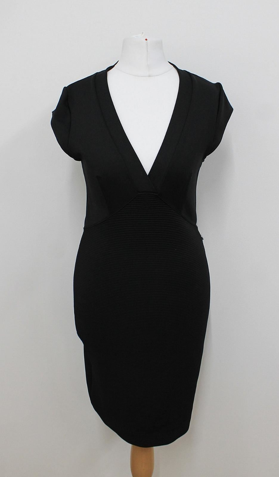 FRENCH-CONNECTION-Ladies-V-Neckline-Cap-Sleeved-Stretch-Pencil-Dress-UK10