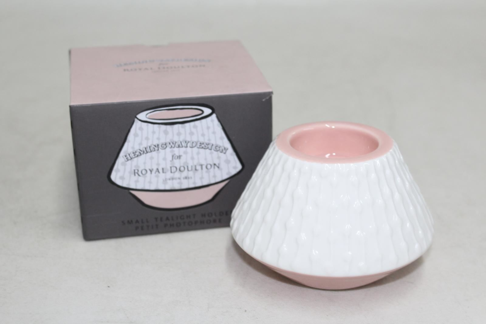 HEMINGWAY DESIGN Small Tealight Holder Petit Photophore Royal Doulton NEW