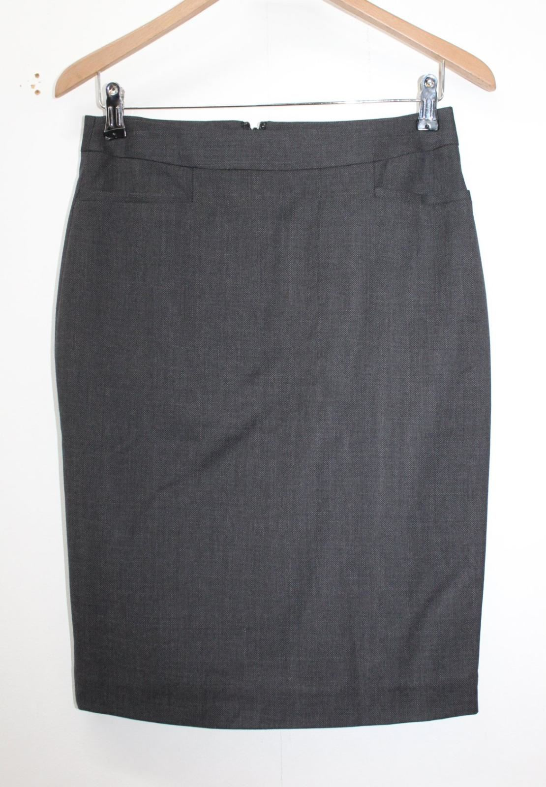 Pencil Uk8 Bnwt Style Knee Gonna Size Marl Ladies Wool Eu36 Length Grey Saba pqH4awF4