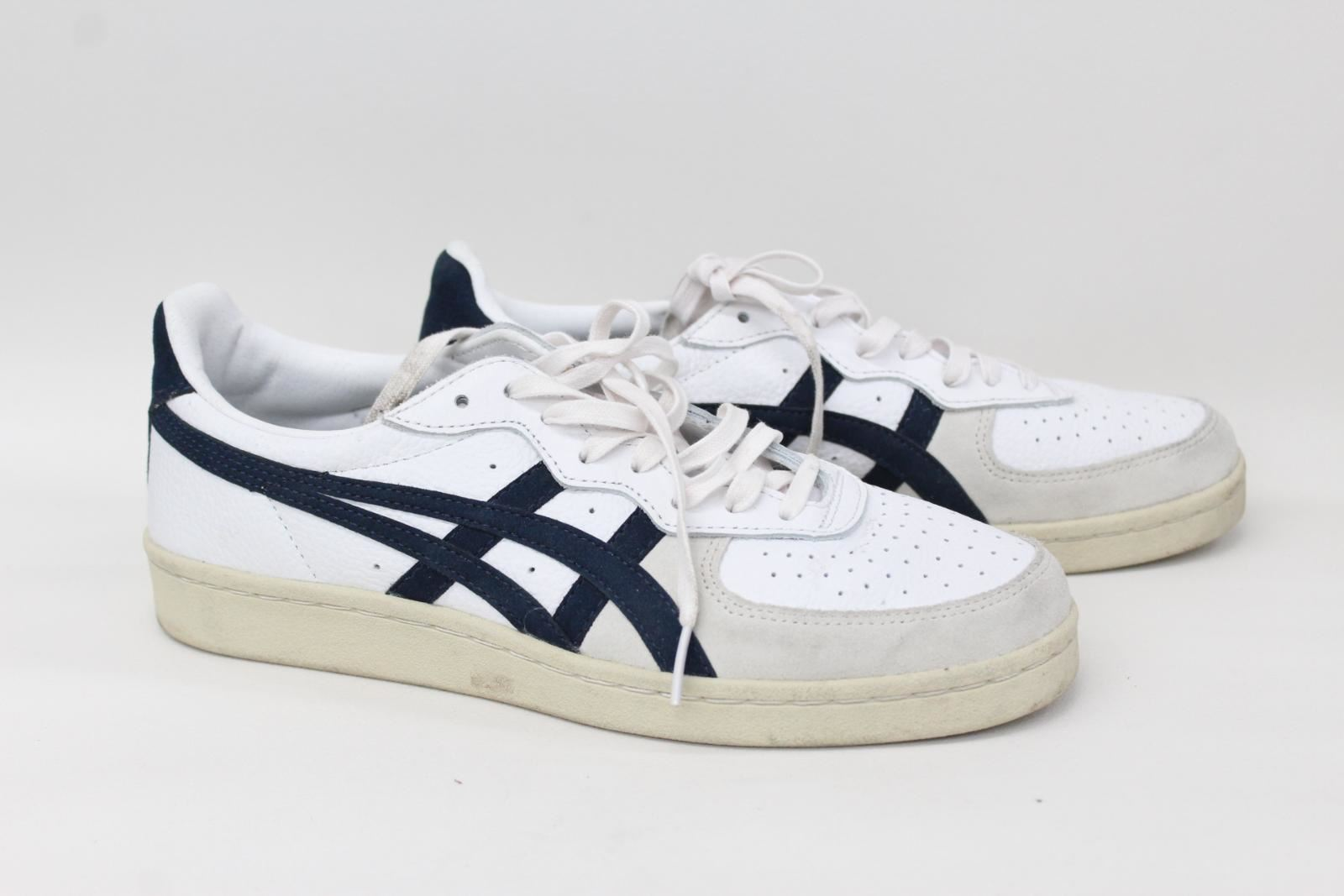 ASICS Onitsuka Tiger Men's White Leather Low Top Lace Up Trainers UK6 EU40