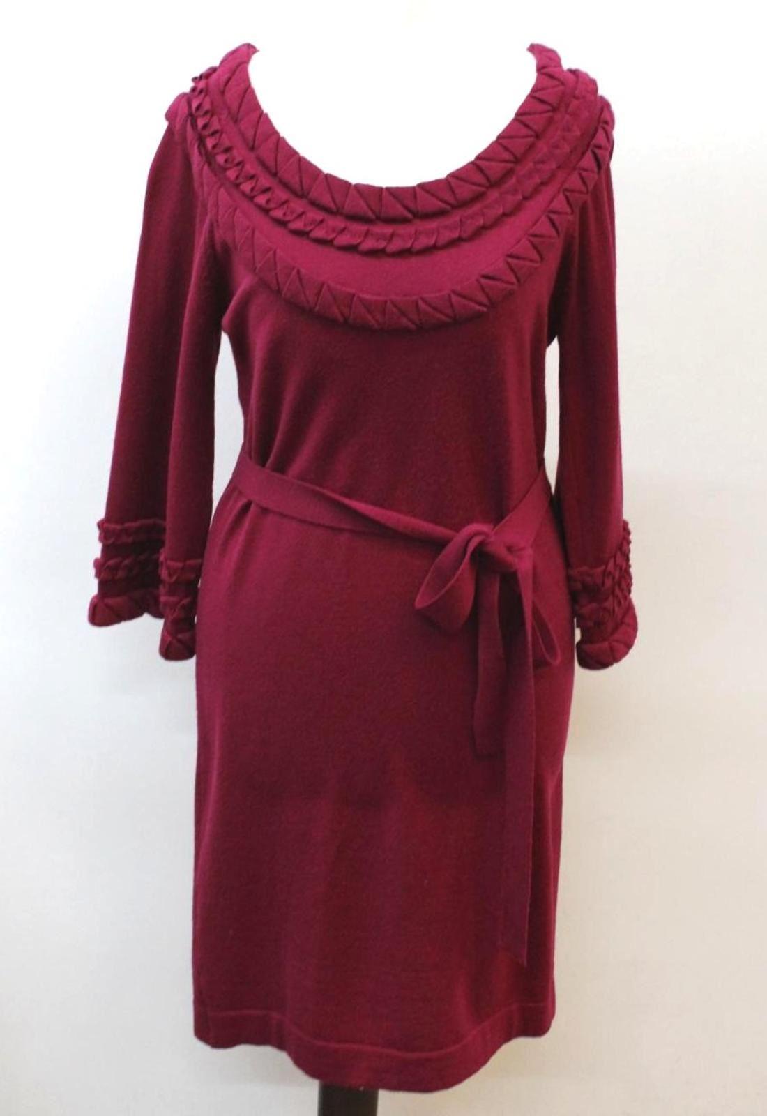 DIANE VON FURSTENBERG Ladies lila Plum 3 4 Sleeve Jumper Dress Approx. S