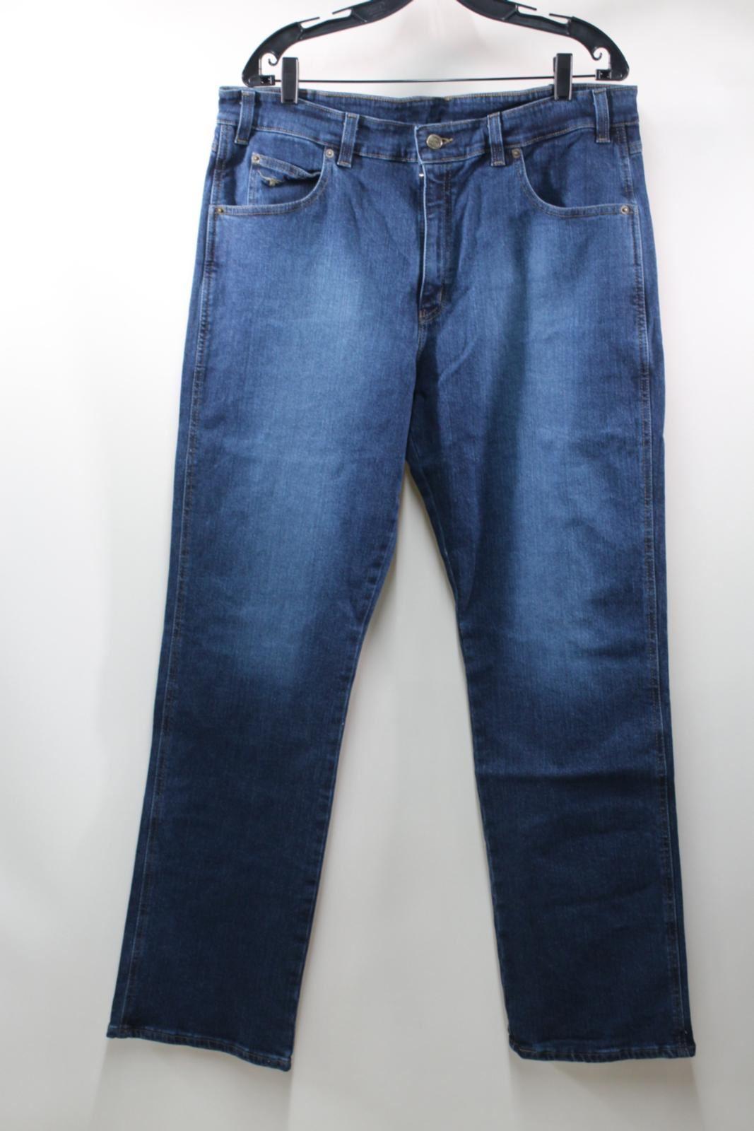 BNWT R.M. WILLIAMS Men's Blau Denim Straight Leg Low Rise Linesman Jeans 40R W38