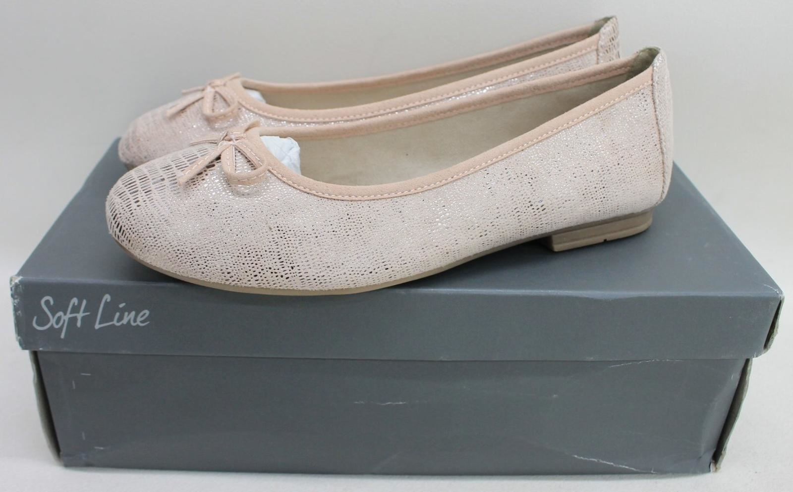 JANA Soft Line Ladies Rose Pink Carla Ballerina Flats Shoes UK3.5 EU36 NEW