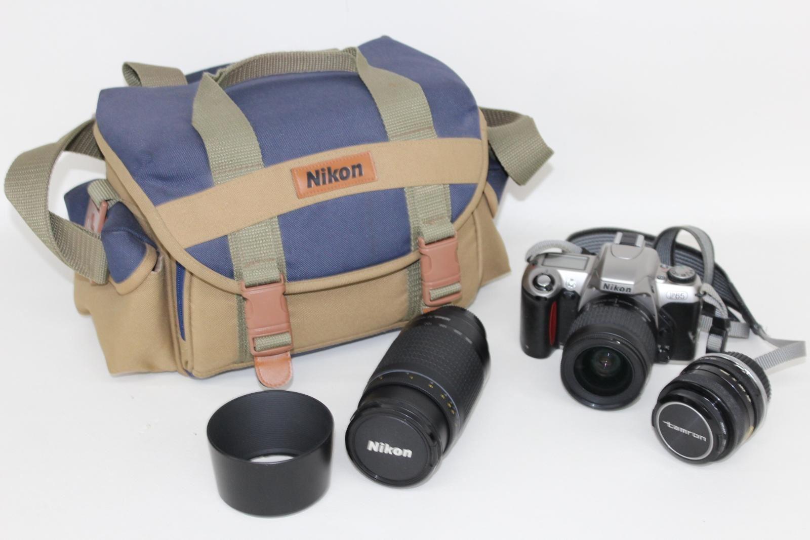 NIKON-F65-Camara-Con-Nikkor-28-80mm-y-70-300mm-y-Tamron-Hoya-Lentes-52mm
