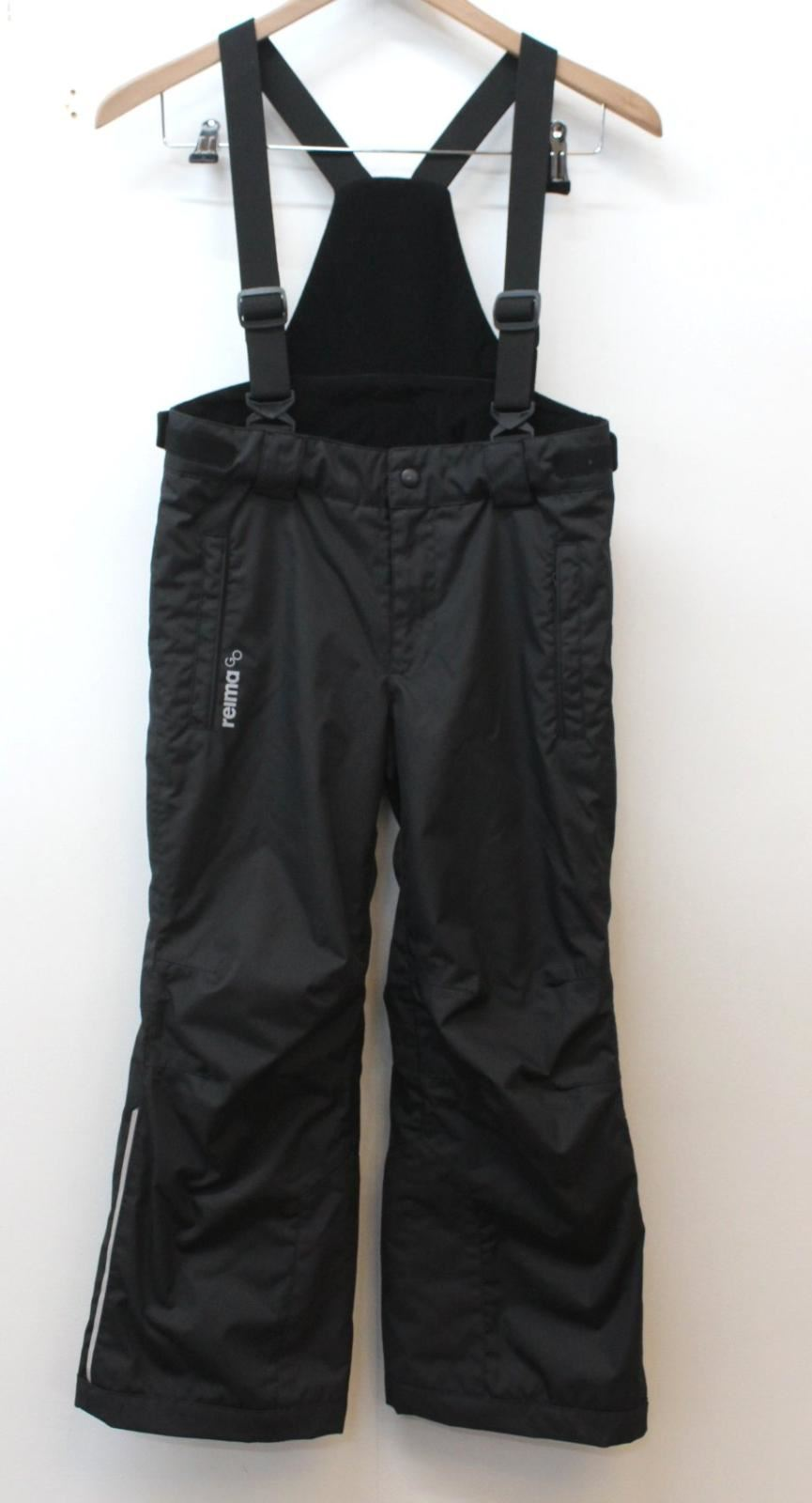 REIMA-Girls-Black-Ski-Snow-Winter-Salopettes-Trousers-With-Braces-128-8-Yrs