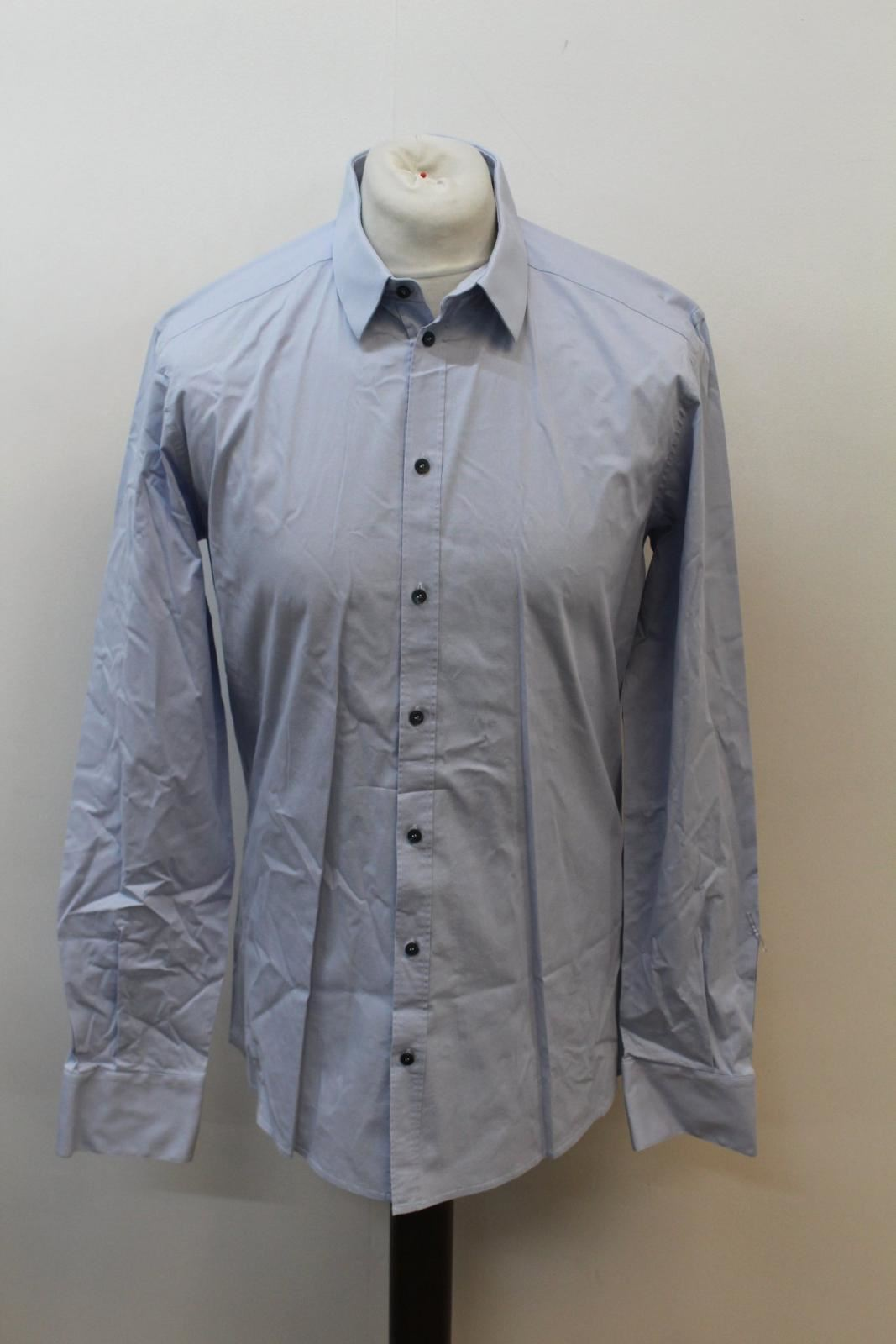 """100% Vero Dolce & Gabbana Gold Uomo Misto Cotone Blu Camicia Formale Colletto 16.5"""" 42cm-mostra Il Titolo Originale Sconto Del 50"""