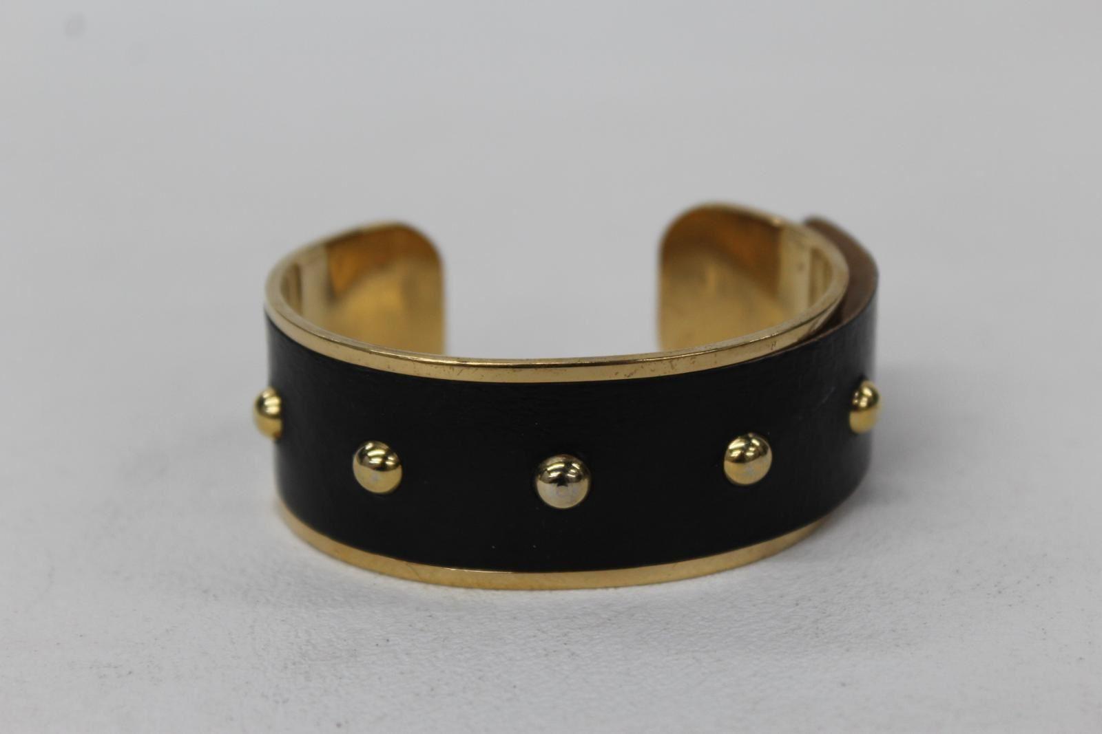 ASPINAL-OF-LONDON-Ladies-Athena-Black-Snakeskin-amp-Gold-Tone-Metal-Cuff-Bracelet