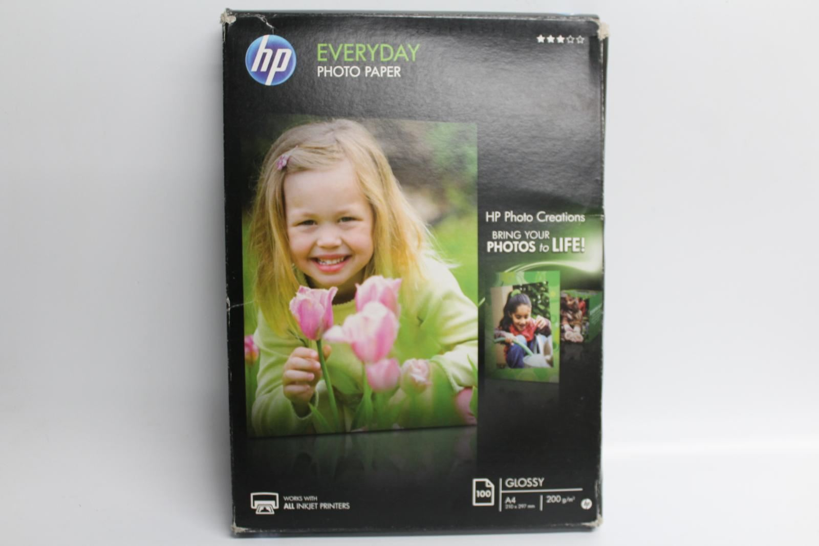 HP-Everyday-A4-Glossy-Photograph-Paper-210x297mm-For-Printer-100-Sheets-NEW