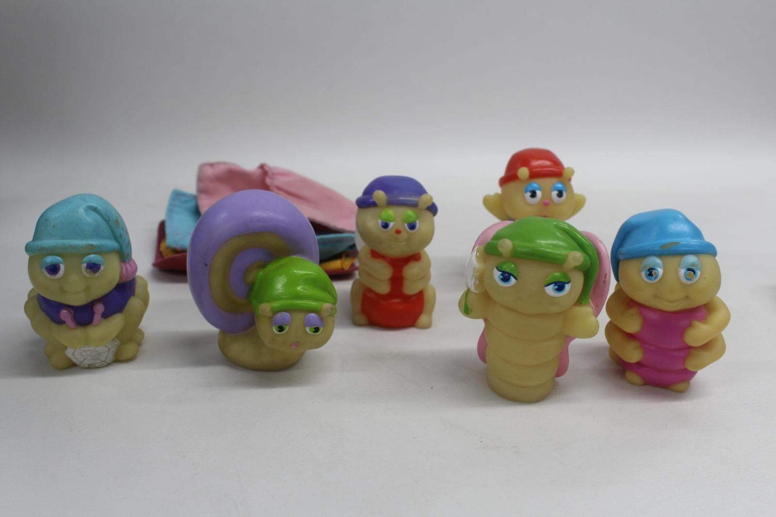 HASBRO-Vintage-6-Glo-Worms-3-034-Mini-Figures-4-Sleep-Sacks-Collectible-5-1985-1-1