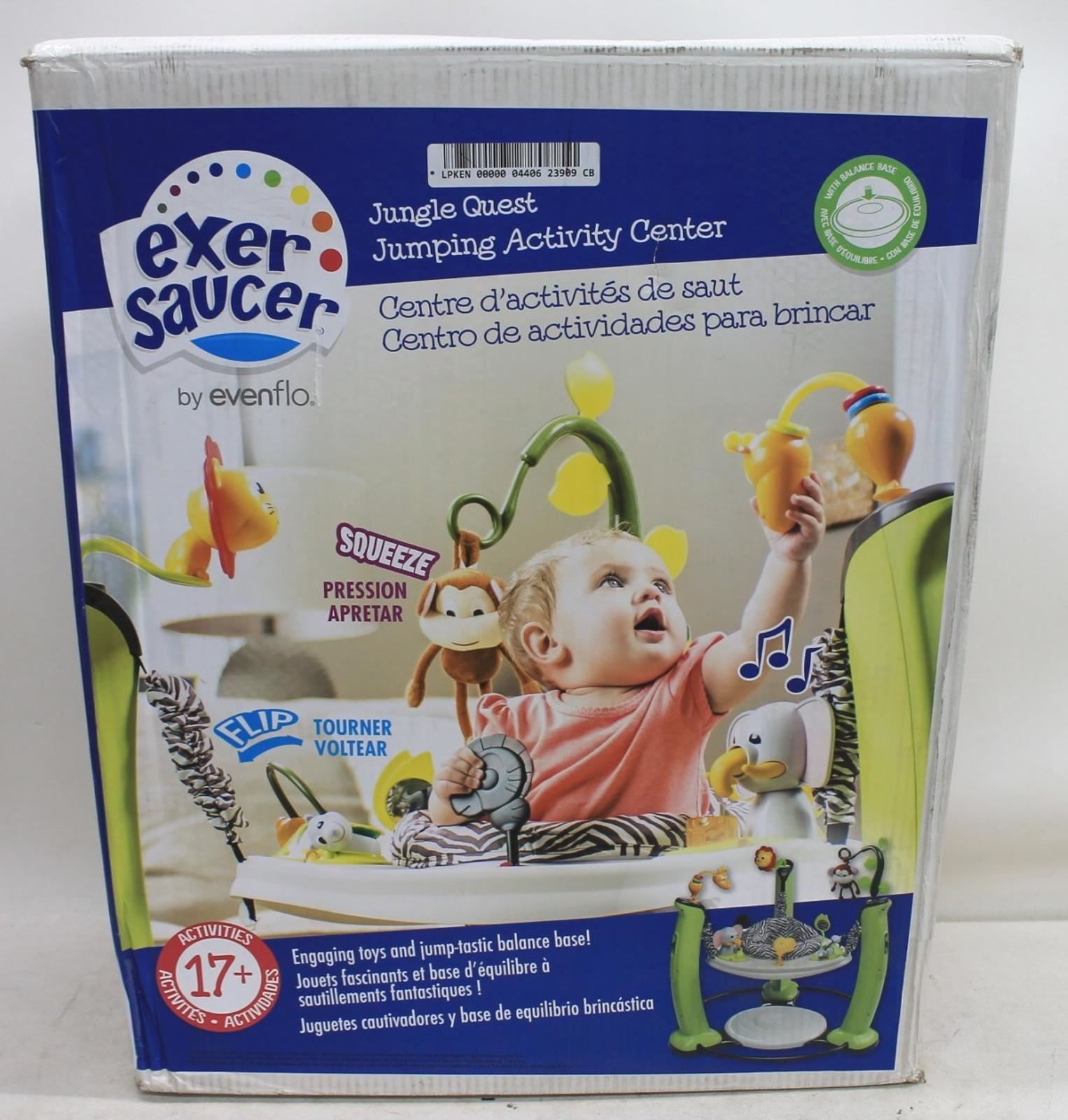 EVENFLO-ExerSaucer-61731198-Jump-amp-Learn-Jungle-Quest-Stationary-Baby-Jumper-NEW