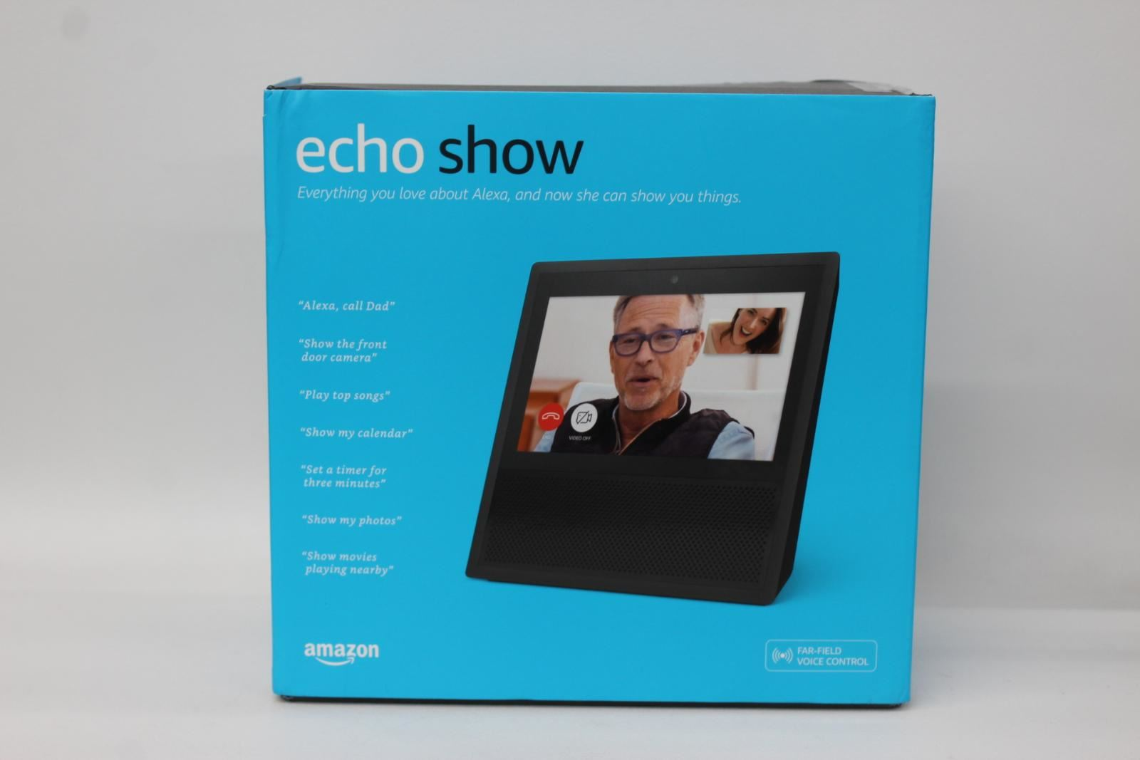 AMAZON-Echo-Show-Alexa-Smart-Assistant-Black-1st-Generation-7-034-Display-NEW