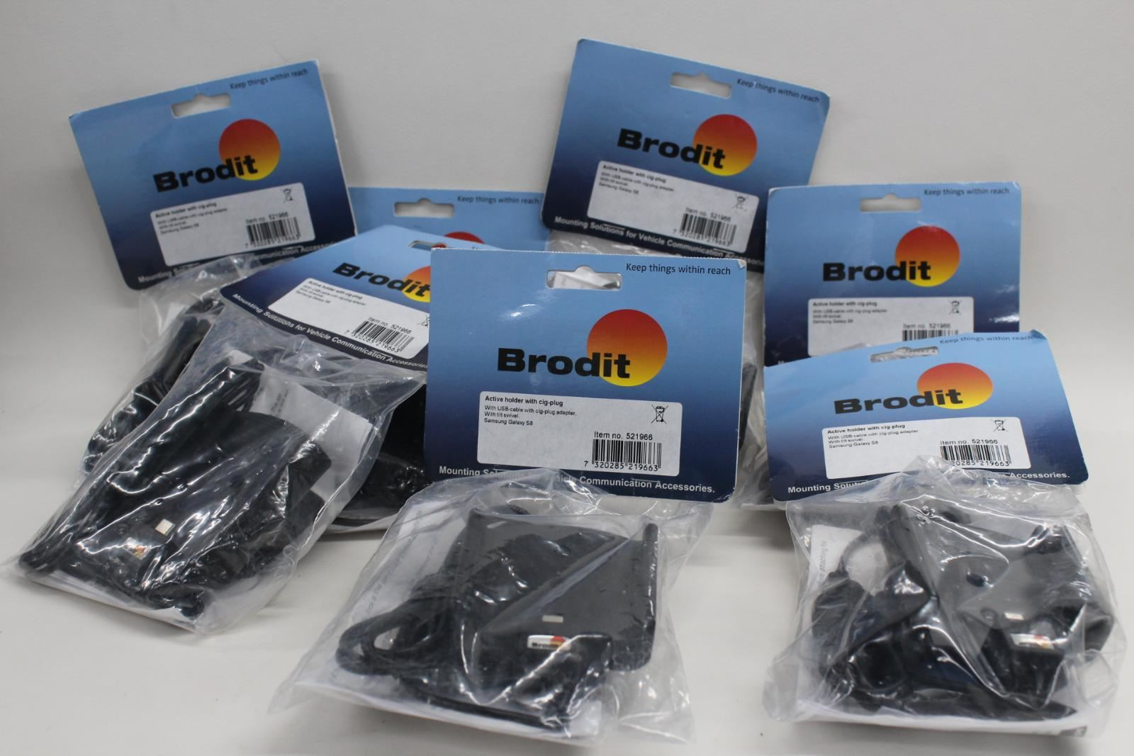 7x New Job Lot Brodit Active Holder Suitable For Samsung Galaxy Mobile Devices