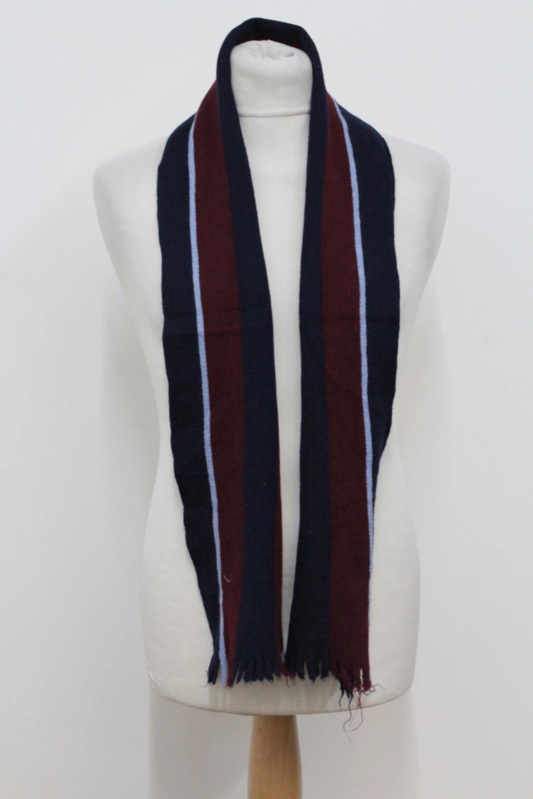 Hilltop-Homme-Bleu-amp-Rouge-Laine-depouille-rectangulaire-Tricot-echarpe-152-cm-x-20-cm