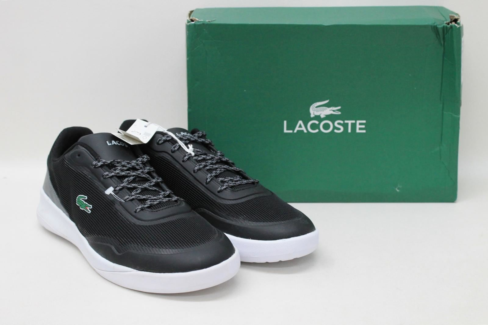 BNIB LACOSTE Men's Black Grey White Running Sport Trainers shoes Size UK9