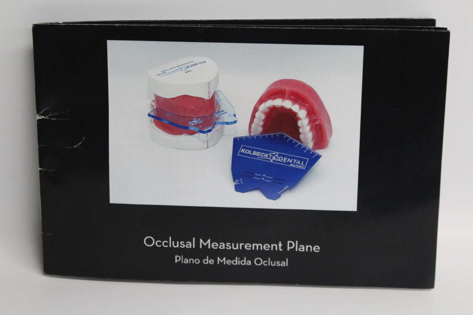 KOLBECK Blue Dental Teeth Occlusal Measurement Plane With Instruction Guide