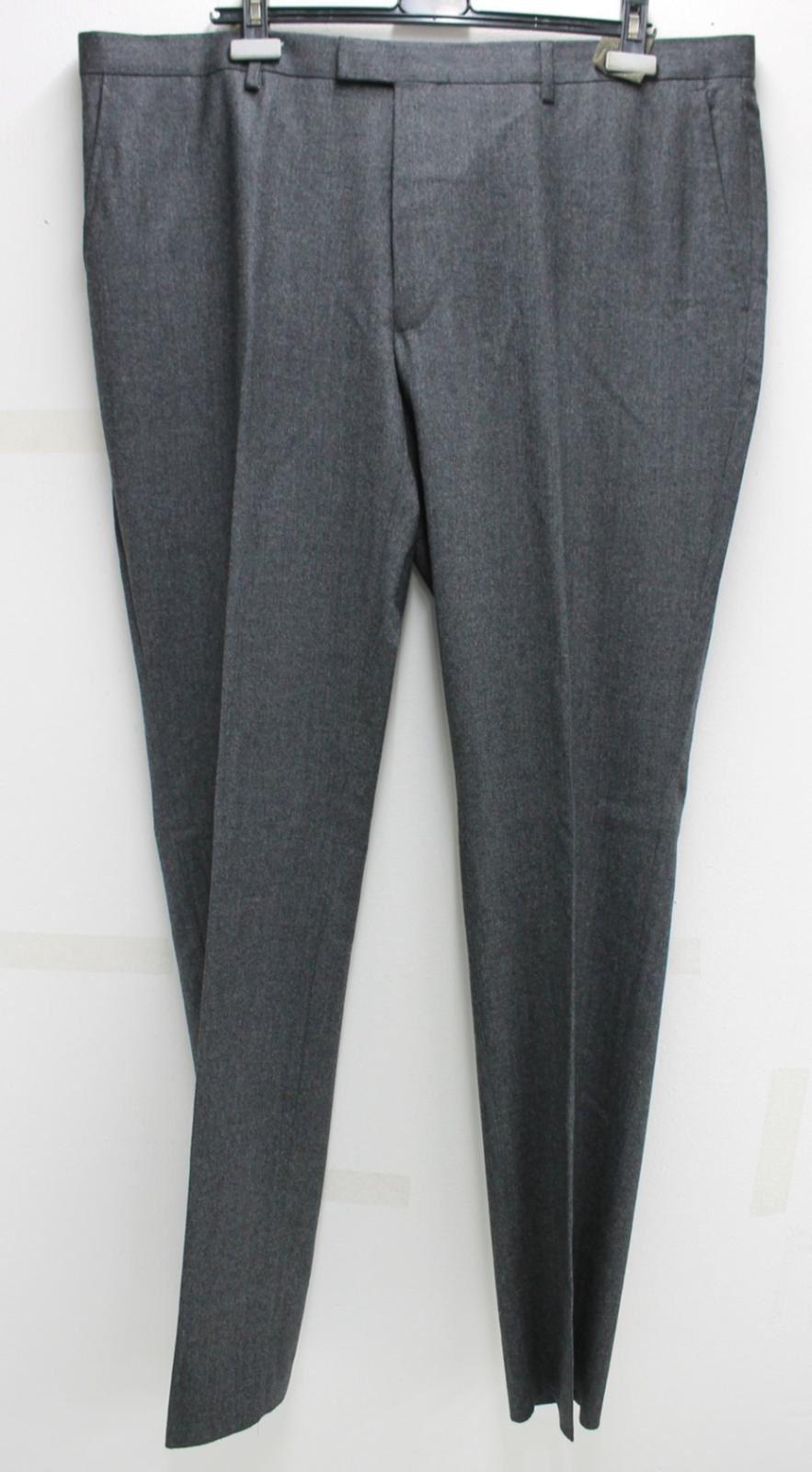 T-M-LEWIN-Mens-Adrian-Grey-Twill-Wool-Slim-Fit-Wool-Suit-Trousers-42R-BNWT