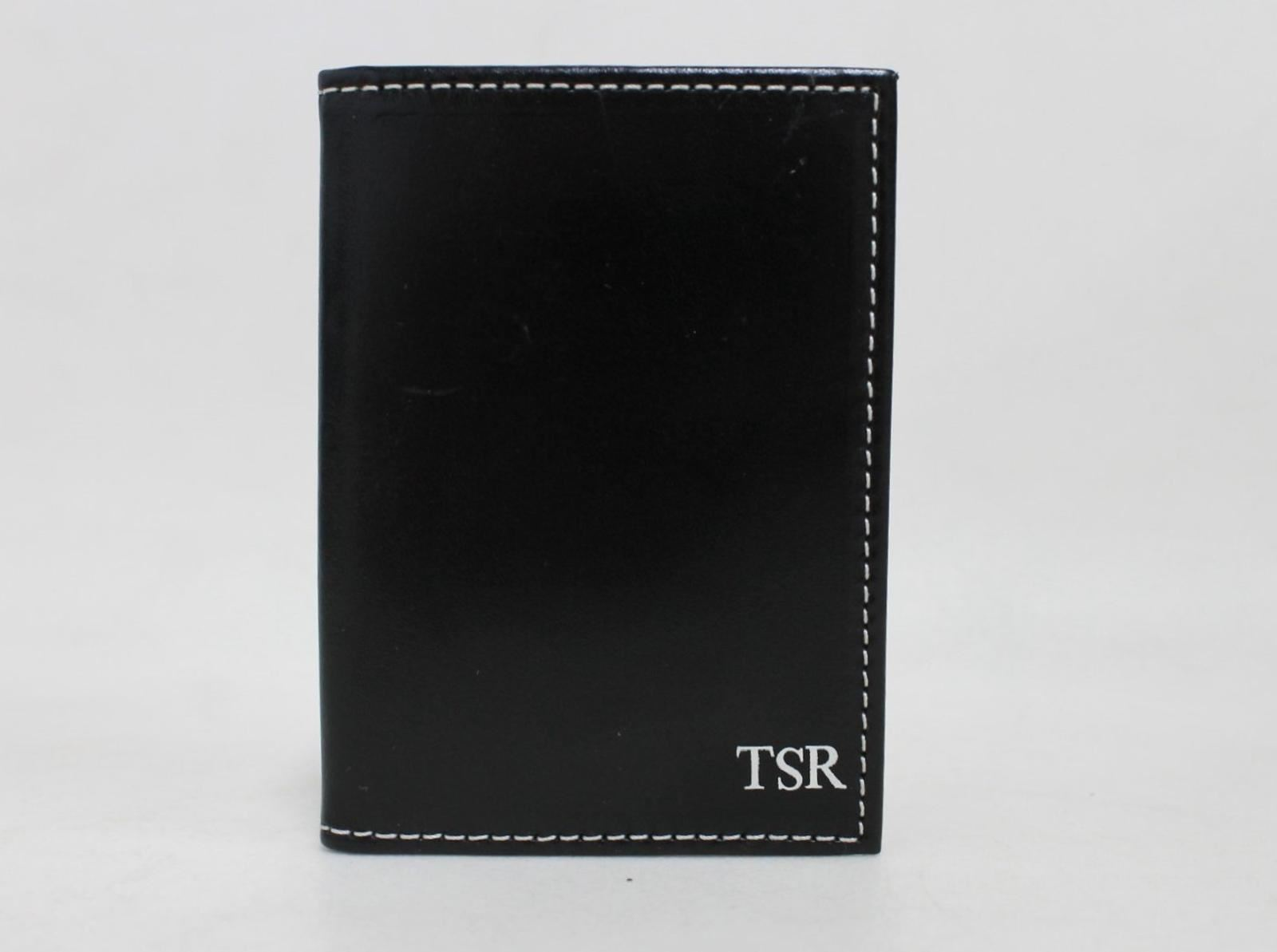 ASPINAL-OF-LONDON-Men-039-s-Smooth-Black-amp-Ivory-Leather-Card-Case-Stamped-NEW