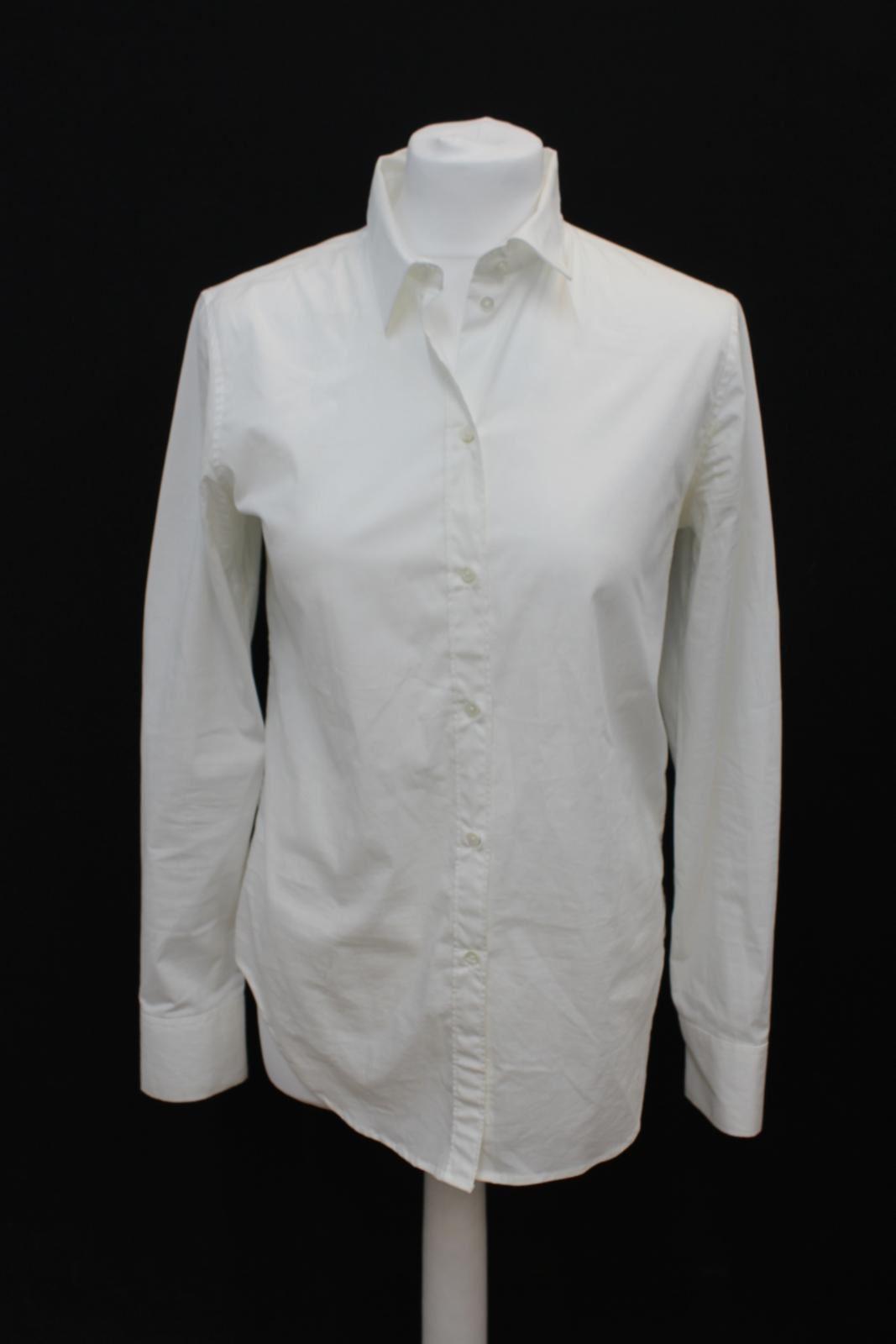 JIGSAW Ladies Weiß Stretch Cotton Collarot Button Down Formal Shirt UK10