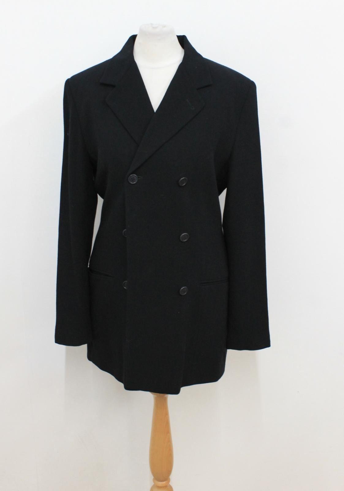 Calvin Klein Ladies Black Double Breasted Wool Suit Jacket Size Approx. S Senility VerzöGern