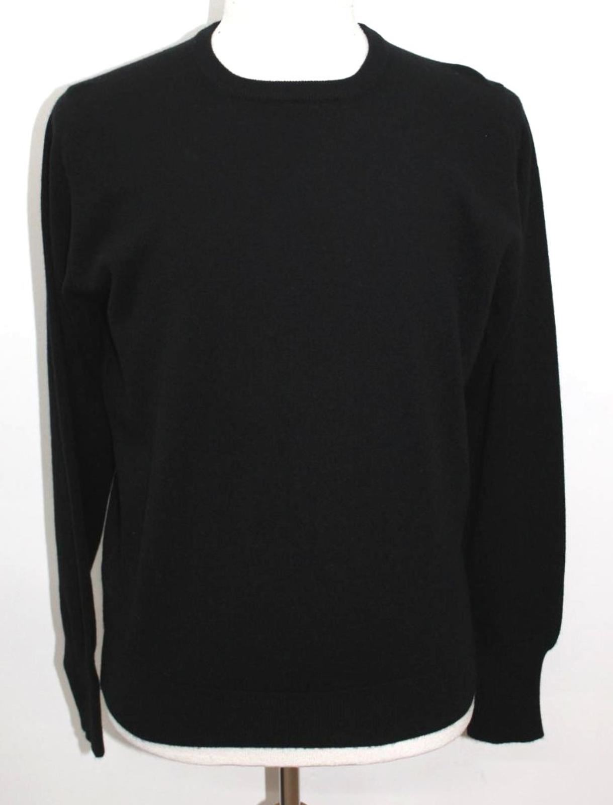 BELINDA ROBERTSON Men/'s Black Cashmere Cameron Knitwear Jumper 46//L BNWT