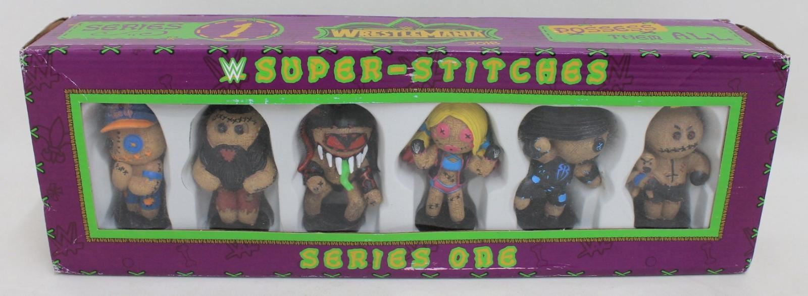 BNIB WWE Wrestlemania New Orleans 2018 Series One Super-Stitches Voodoo Figures