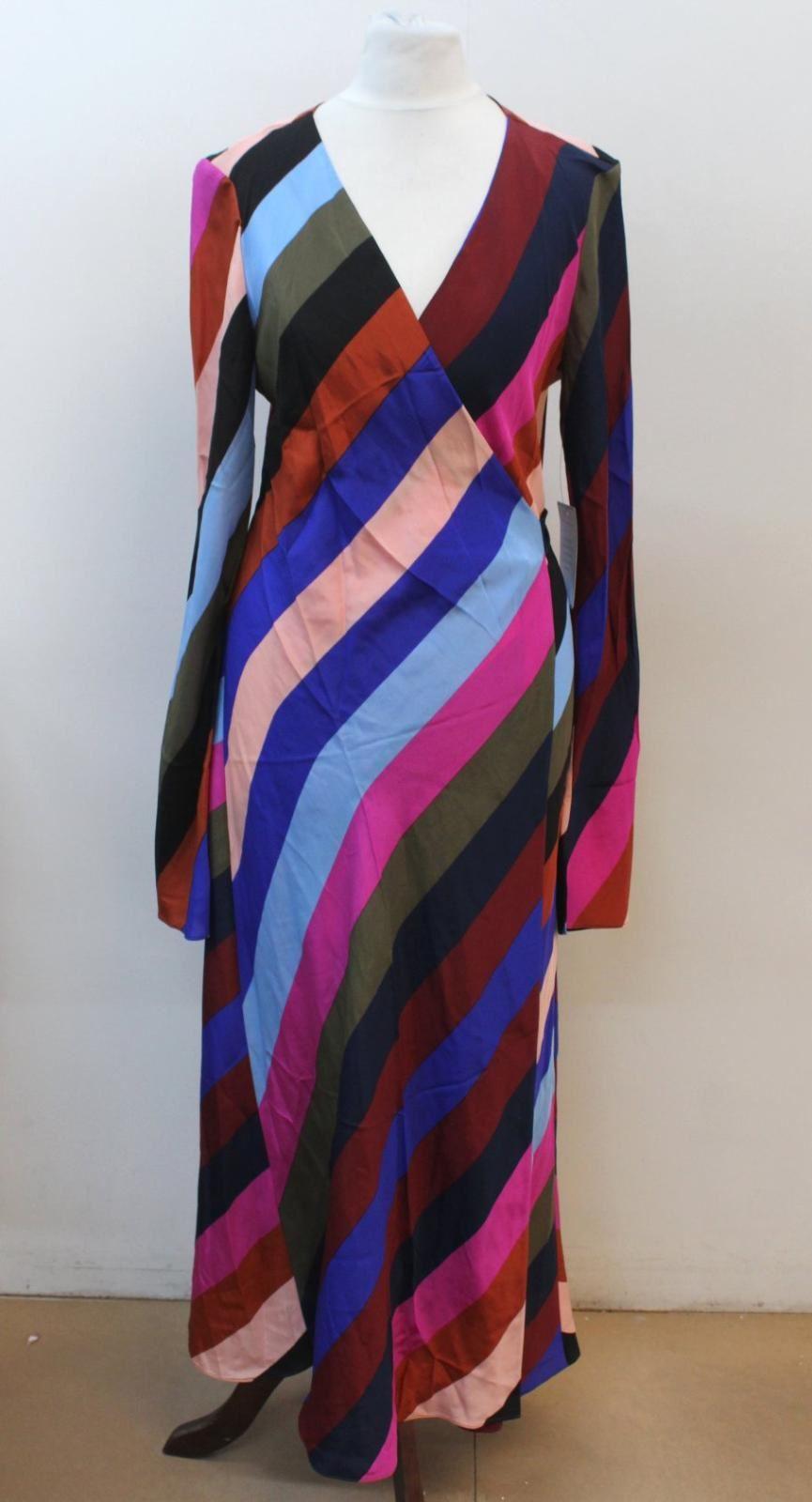 Donna FURSTENBERG DIANE VON Multicolore seta A portafoglio US8 UK12 NUOVO CON ETICHETTA
