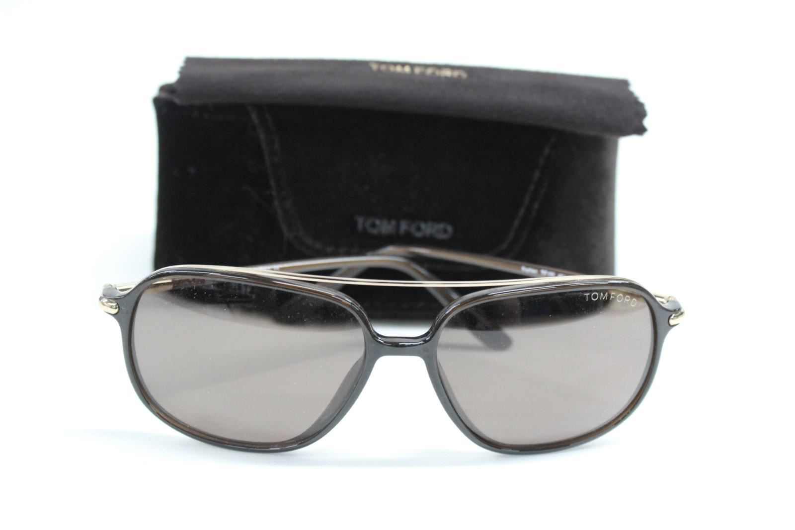 e547abad9546a TOM FORD TF 150 48J Sophien Brown Gradient Unisex Sunglasses 59-15 With  Case 1 of 12Only 1 available ...