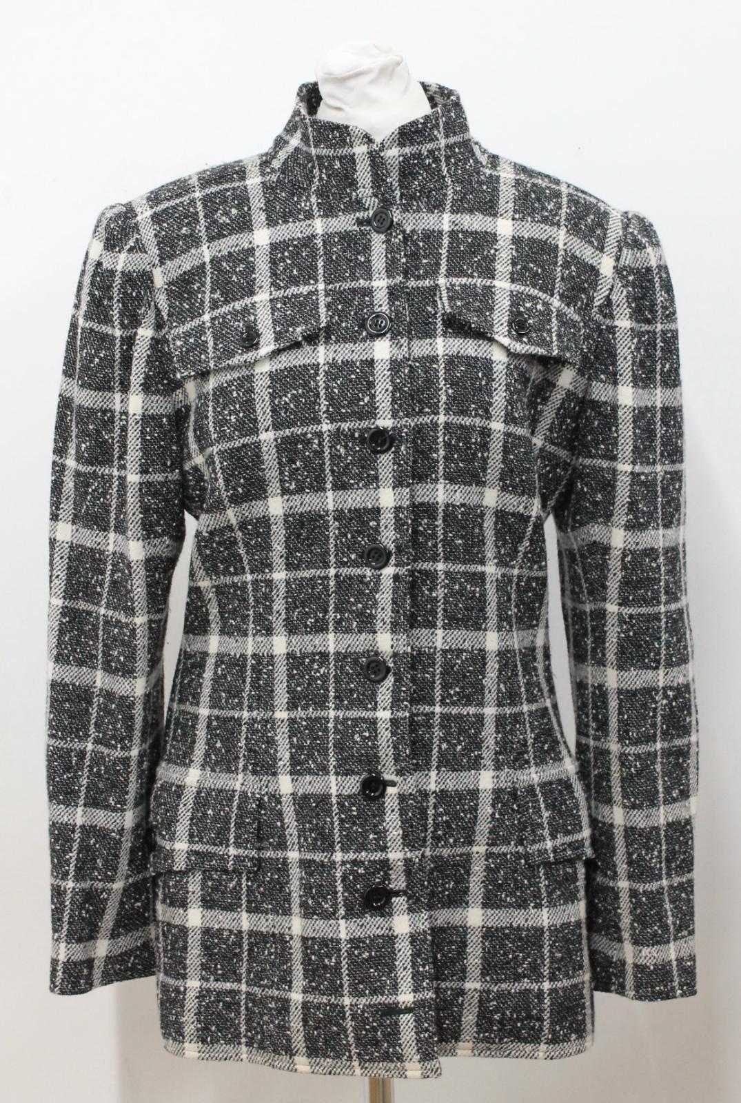 UNGARO-Ladies-Black-amp-White-Single-Breasted-Check-Blazer-Jacket-UK8-EU36