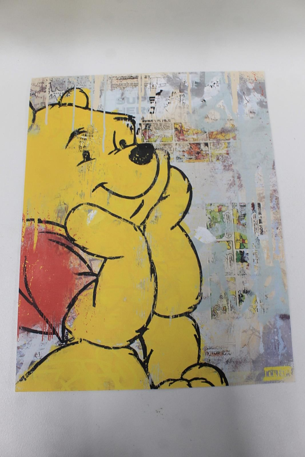 CRISP-Limited-Winnie-The-Pooh-Alec-Pop-Art-Monopoly-Kaws-Canvas-Print-Signed