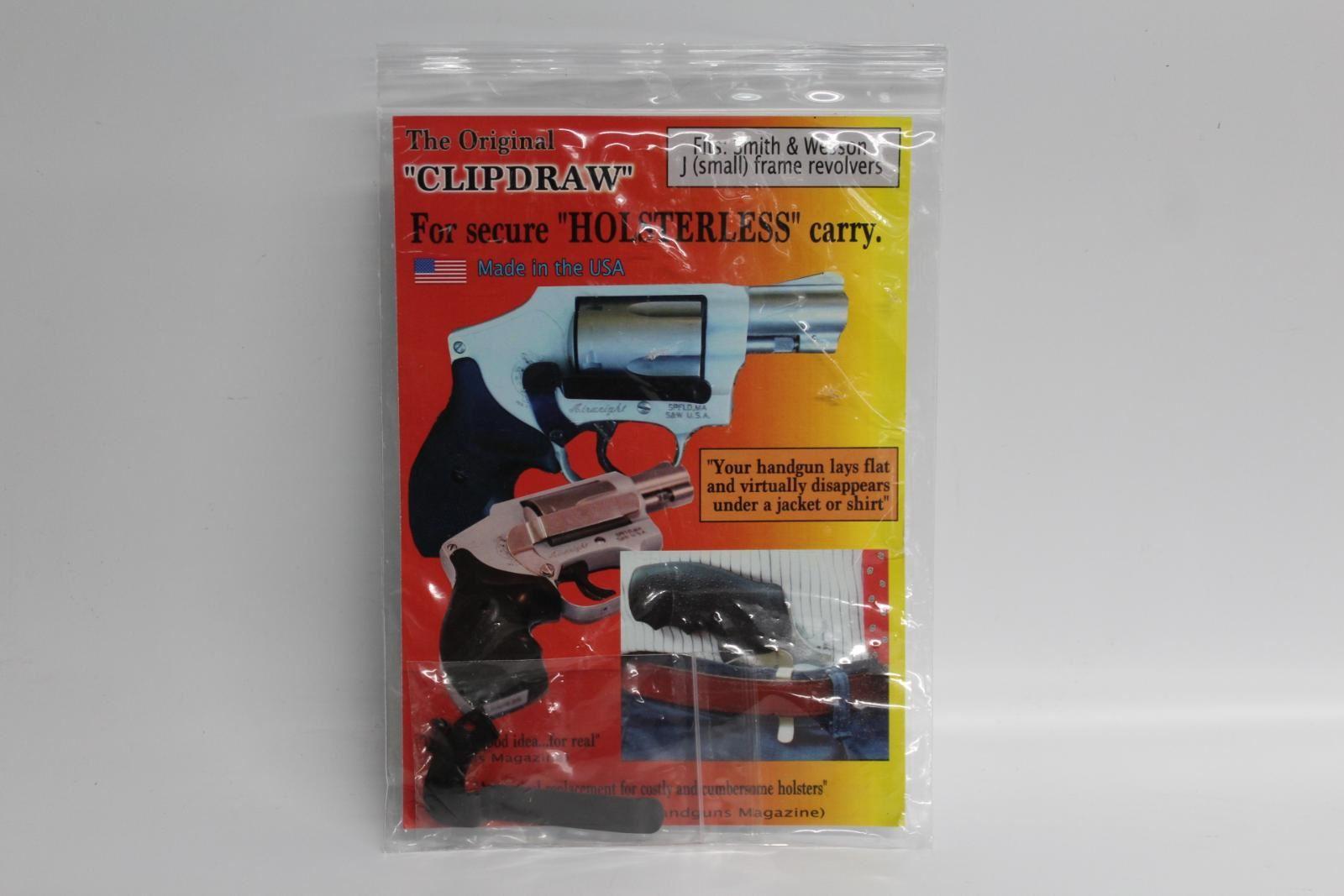 Nouveau Clipdraw Pour S&w J Petit Cadre Revolvers Holster Clip Ceinture Carry équipement-afficher Le Titre D'origine