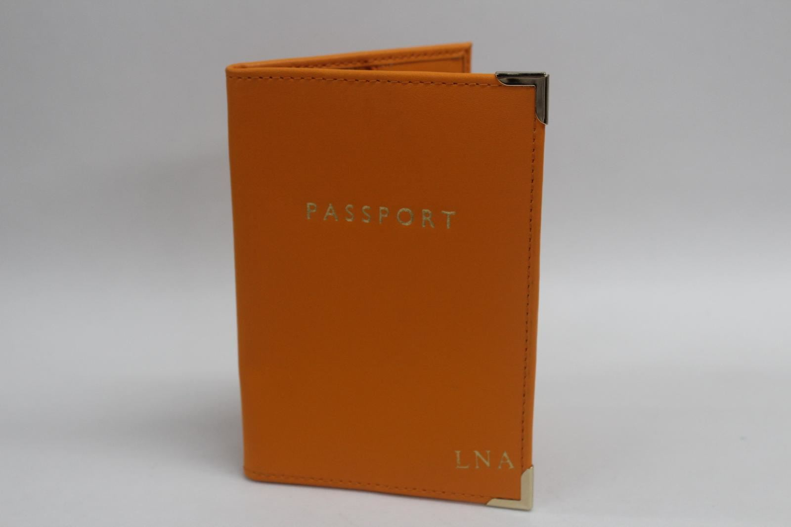 ASPINAL-OF-LONDON-Plain-Amber-Smooth-Leather-Passport-Holder-Cover-Initials-LNA