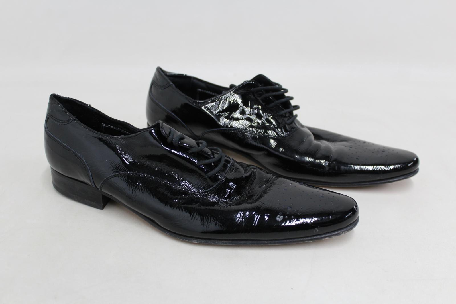Marks-amp-Spencers-Autograph-de-Jeffery-West-Homme-Noir-Formelle-Chaussures-Taille-UK9-EU43