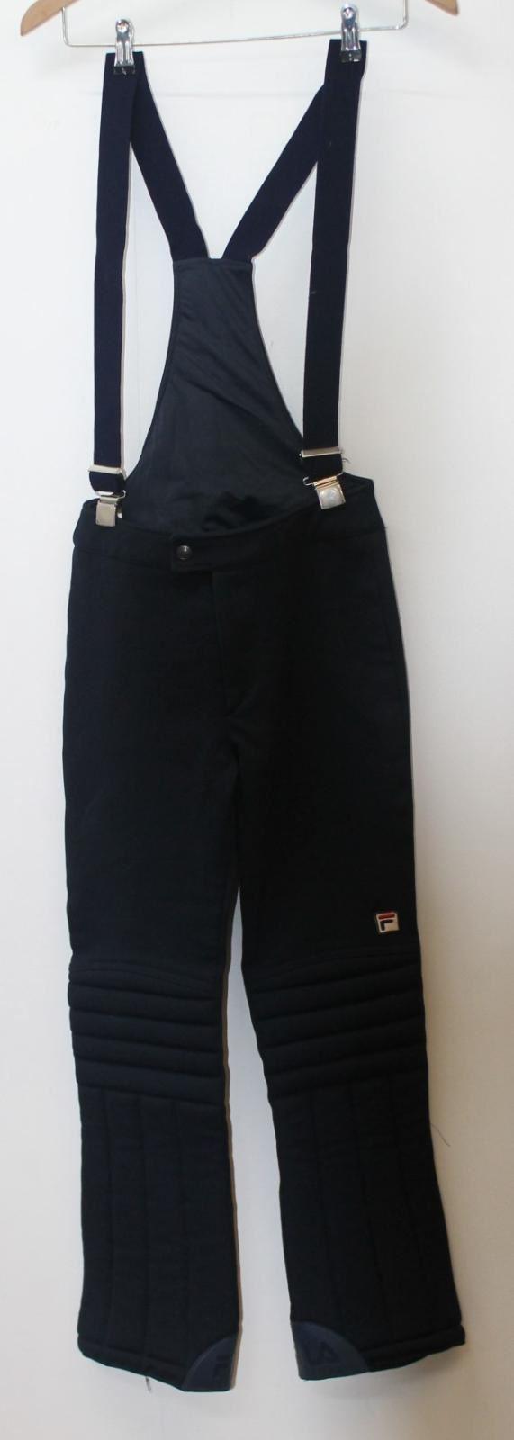 FILA Men's Downhill Thermal Dark bluee Ski & Snow Bibs Pants Trousers Size L