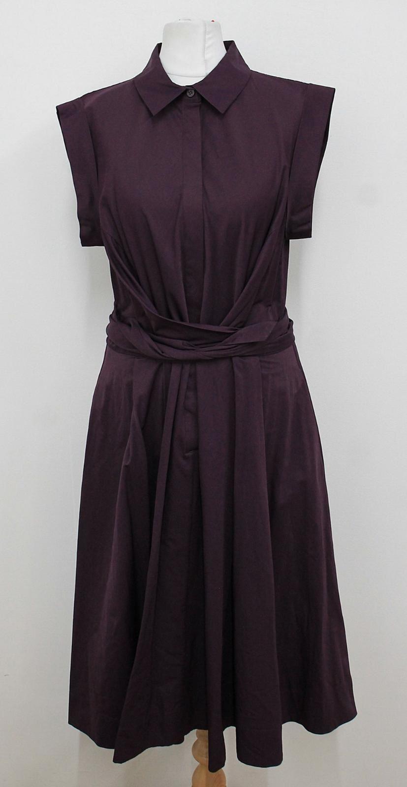 Hobbs-Damen-Light-aubergine-Cap-Armel-Belted-Gables-Shirt-Kleid-uk14-NEU