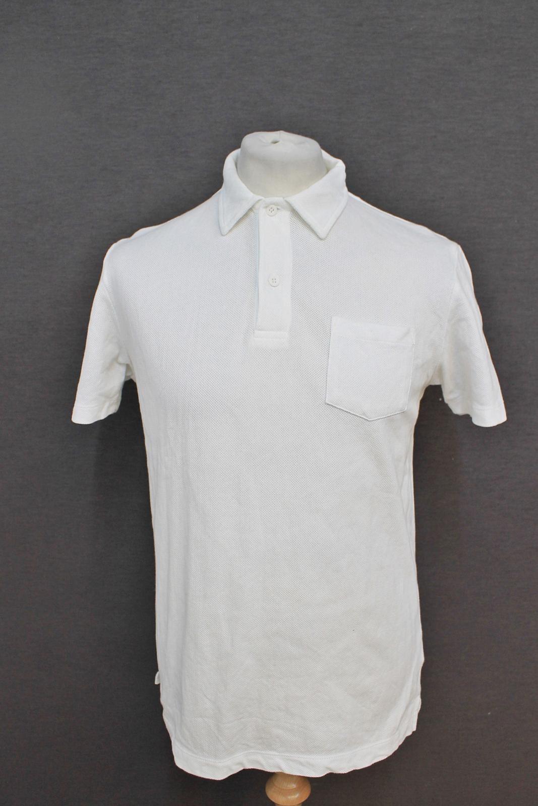 aafc96e8 SUNSPEL Men's Ivory Cream Short Sleeved Cotton Collared Polo Shirt ...