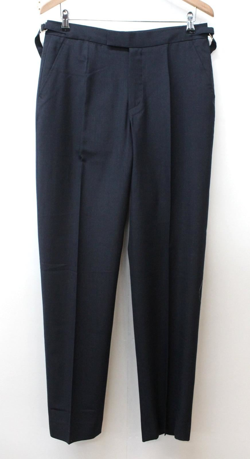 Men's Navy bluee Tapered Leg Style Pleated Front Formal Trousers Size W30 L31