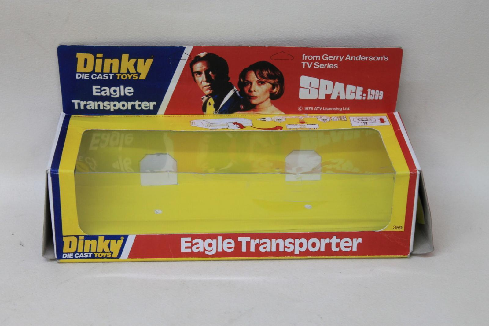 DINKY-TOYS-Eagle-Transporter-No-359-Space-1999-UFO-Attack-Empty-Die-Cast-Toy-Box