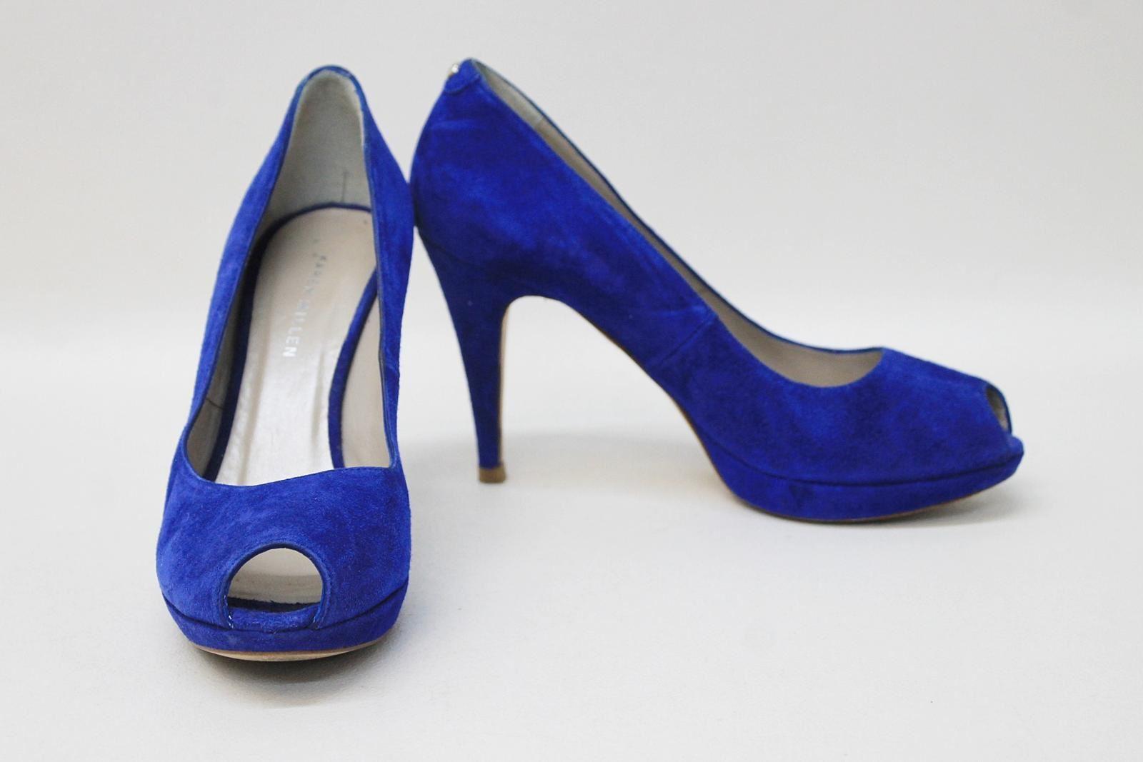 Karen Millen Mesdames Bleu Royal Talon Haut Daim Chaussures à Bout Ouvert Eu37 Uk4-afficher Le Titre D'origine Les Commandes Sont Les Bienvenues.