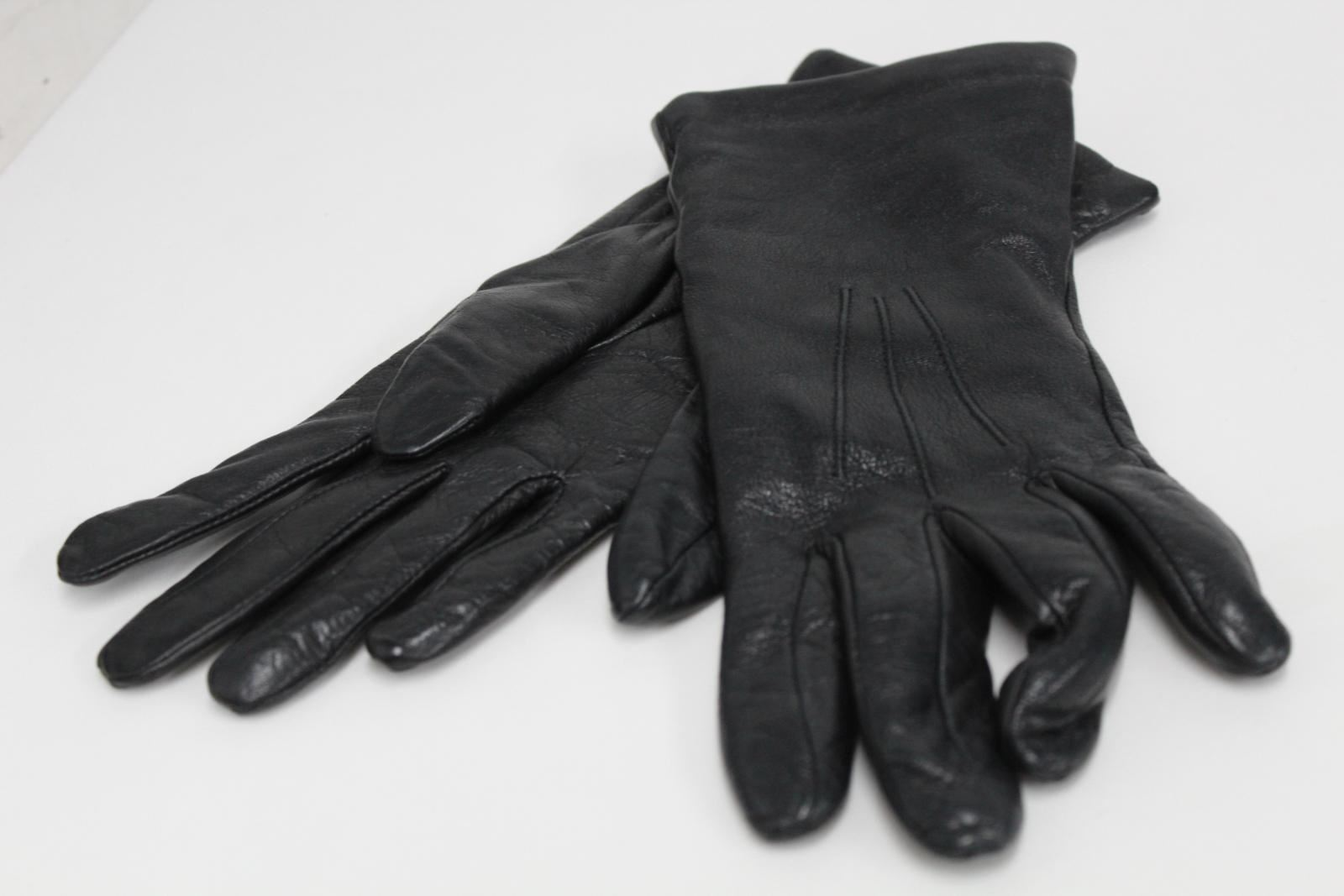 ASPINAL-OF-LONDON-Men-039-s-Black-Classic-Nappa-Leather-Silk-Lined-Gloves-7-NEW