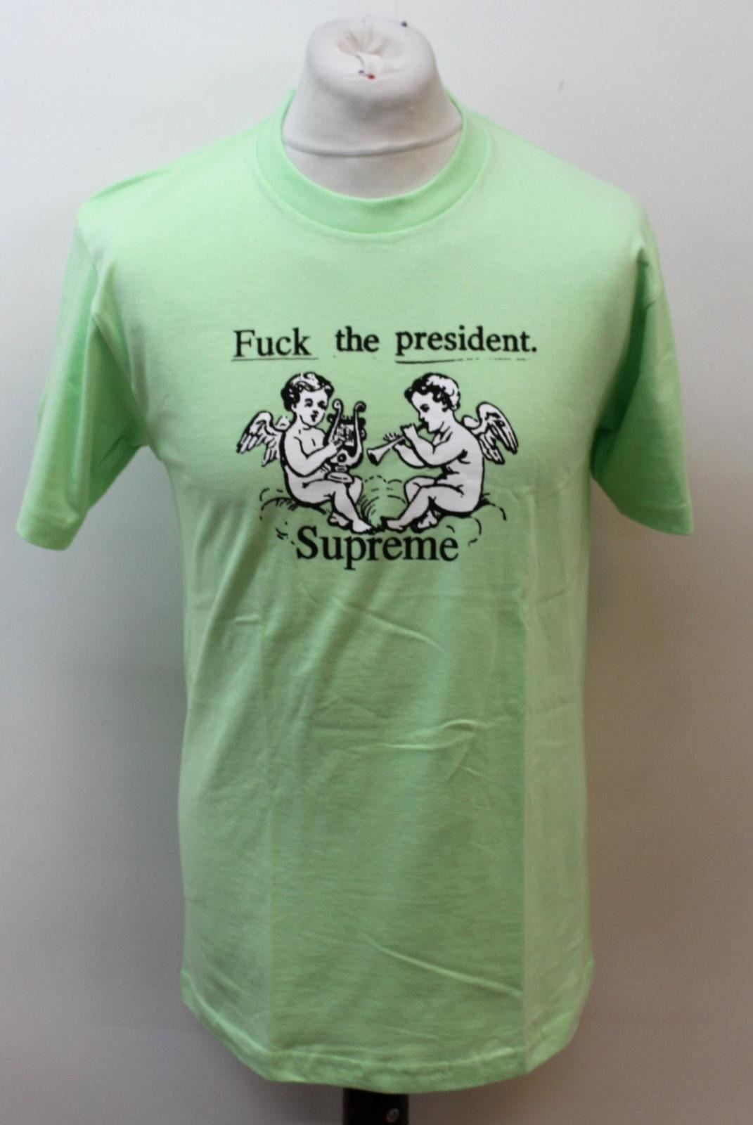 SUPREME Men's Neon Green Cotton Short Sleeve Graphic T-Shirt Size M BNWT