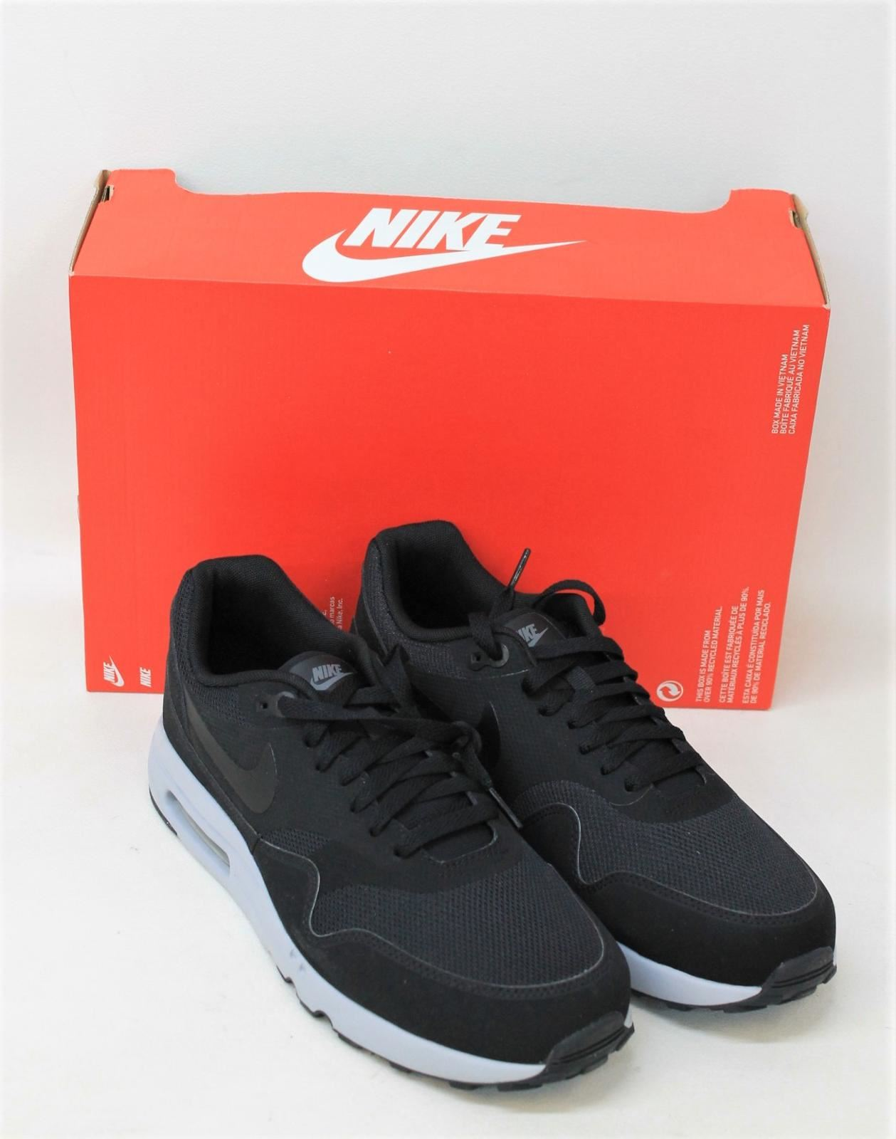 sports shoes 88605 9c49e NIKE Men's Air Max 1 Ultra 2.0 Essential Black Running Shoes Size ...