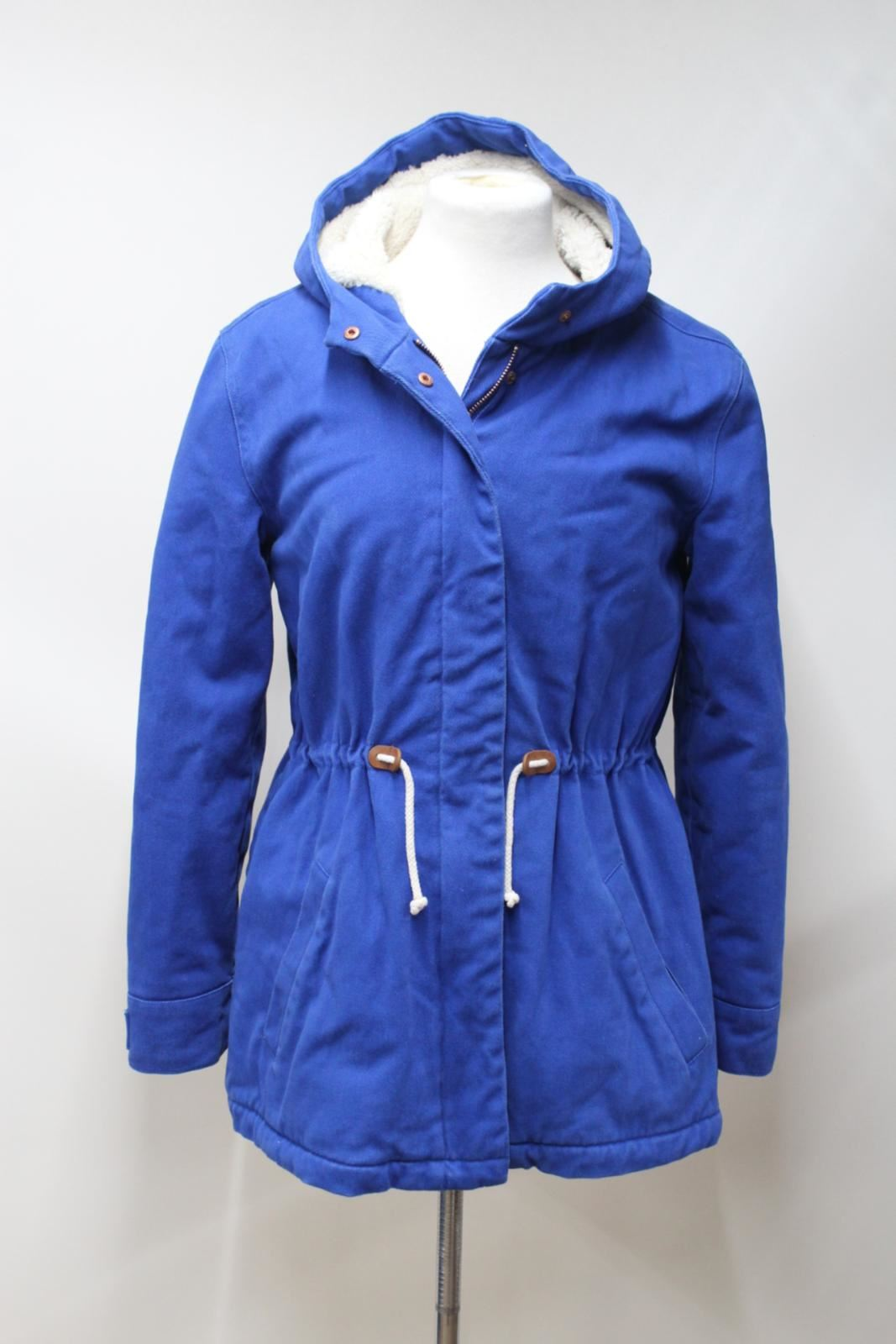 Jacket 15 Years Boden Drawstring Girls Waist Up Hooded Blue 16 Parka Zip wHq18w4BZ