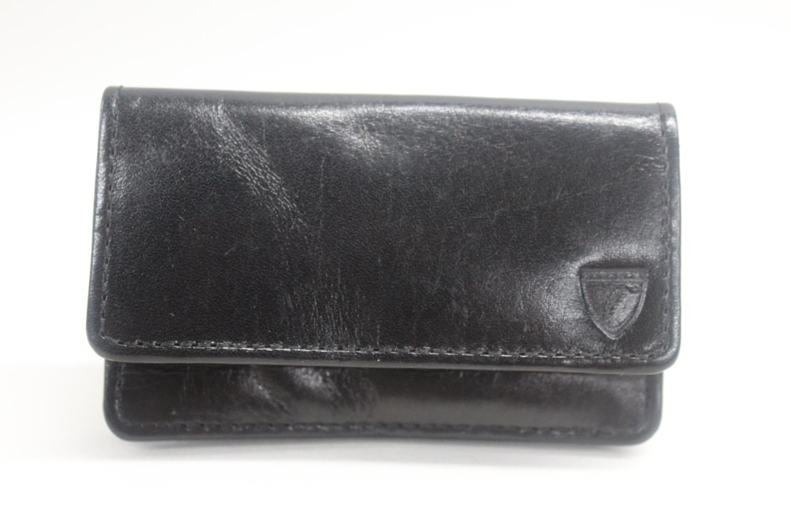 ASPINAL-OF-LONDON-Business-Credit-Card-Case-Black-With-Blue-Interior-NEW