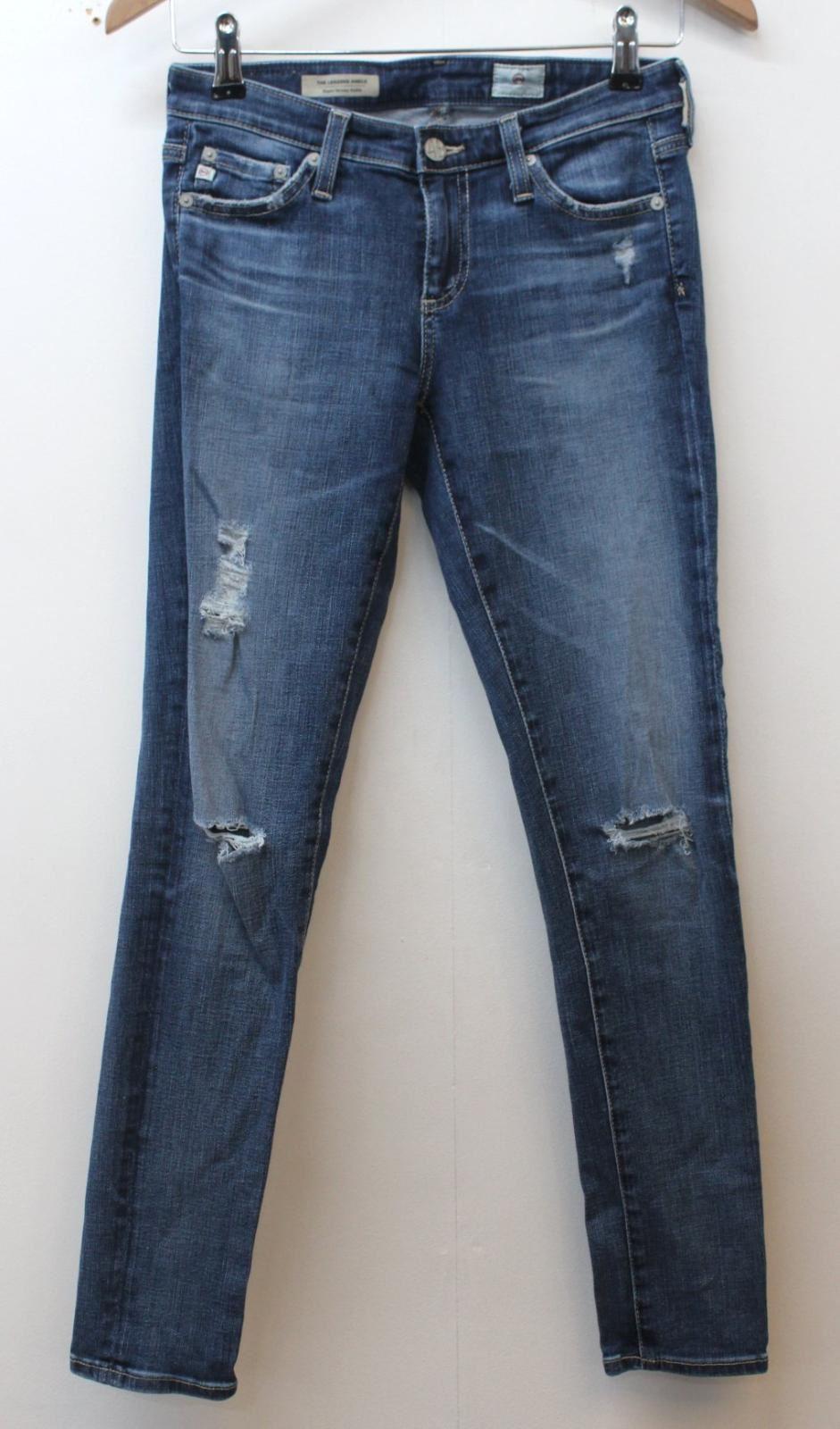 ADRIANO GoldSCHMIED Ladies Blau Legging Ankle Super Skinny Jeans W25 L26